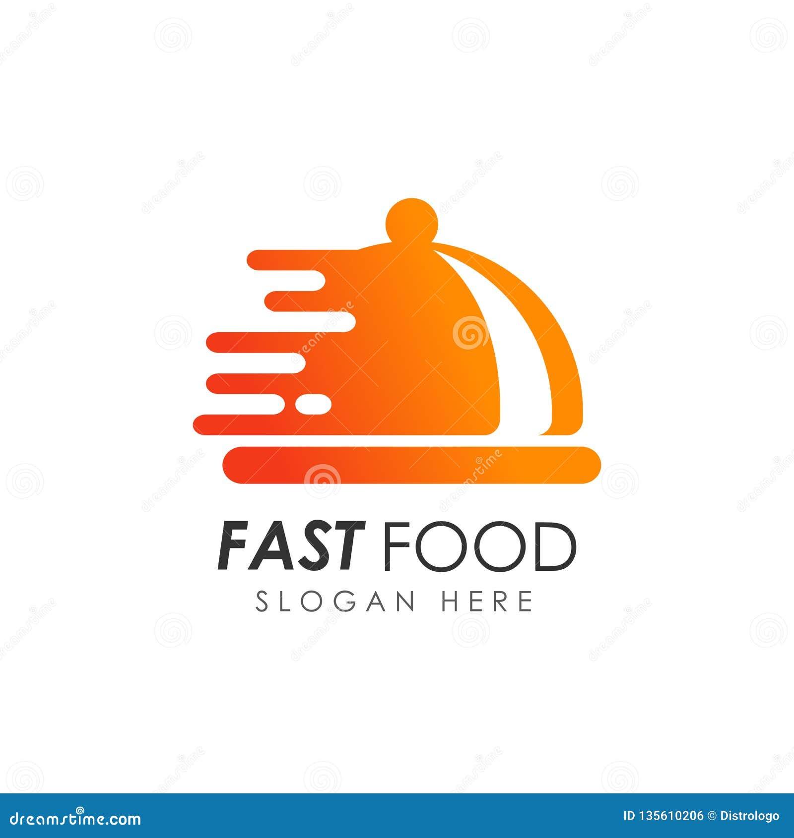 Restaurant Logo Editorial Template: Fast Food Logo Design. Food Delivery Logo Stock Vector