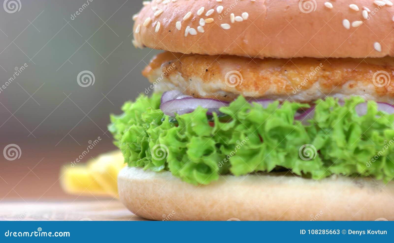 Fast Food Macro Stock Video Image Of Burger Classic 108285663