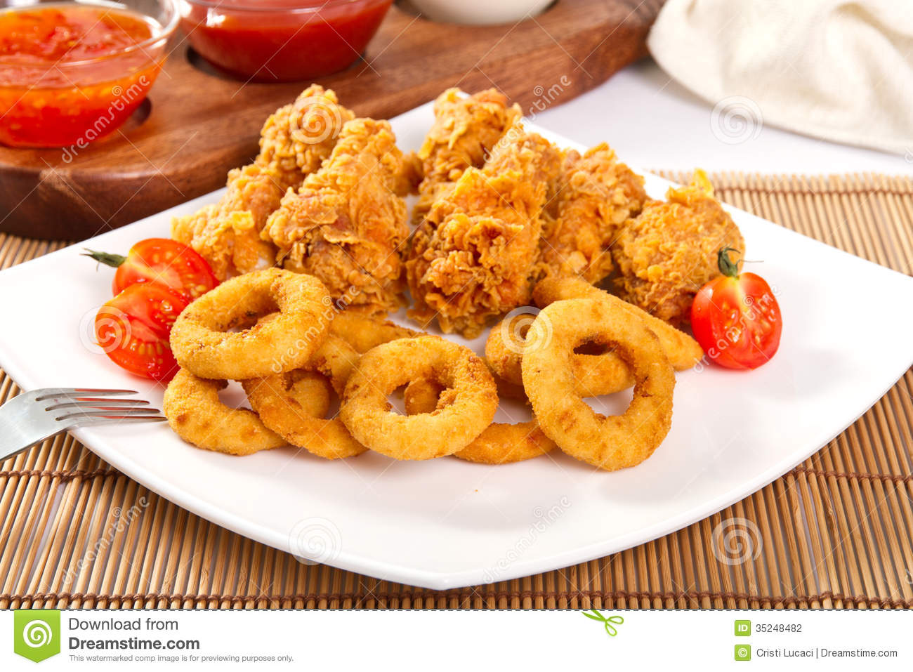 fast food stock photo image of ketchup dinner onion 35248482