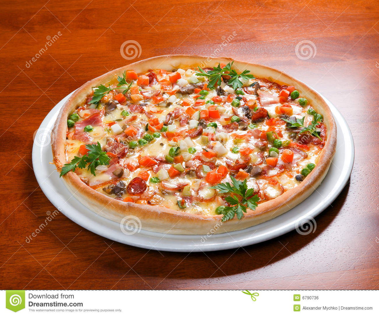 Fast Food Pizza Royalty Free Stock Image Image 6790736