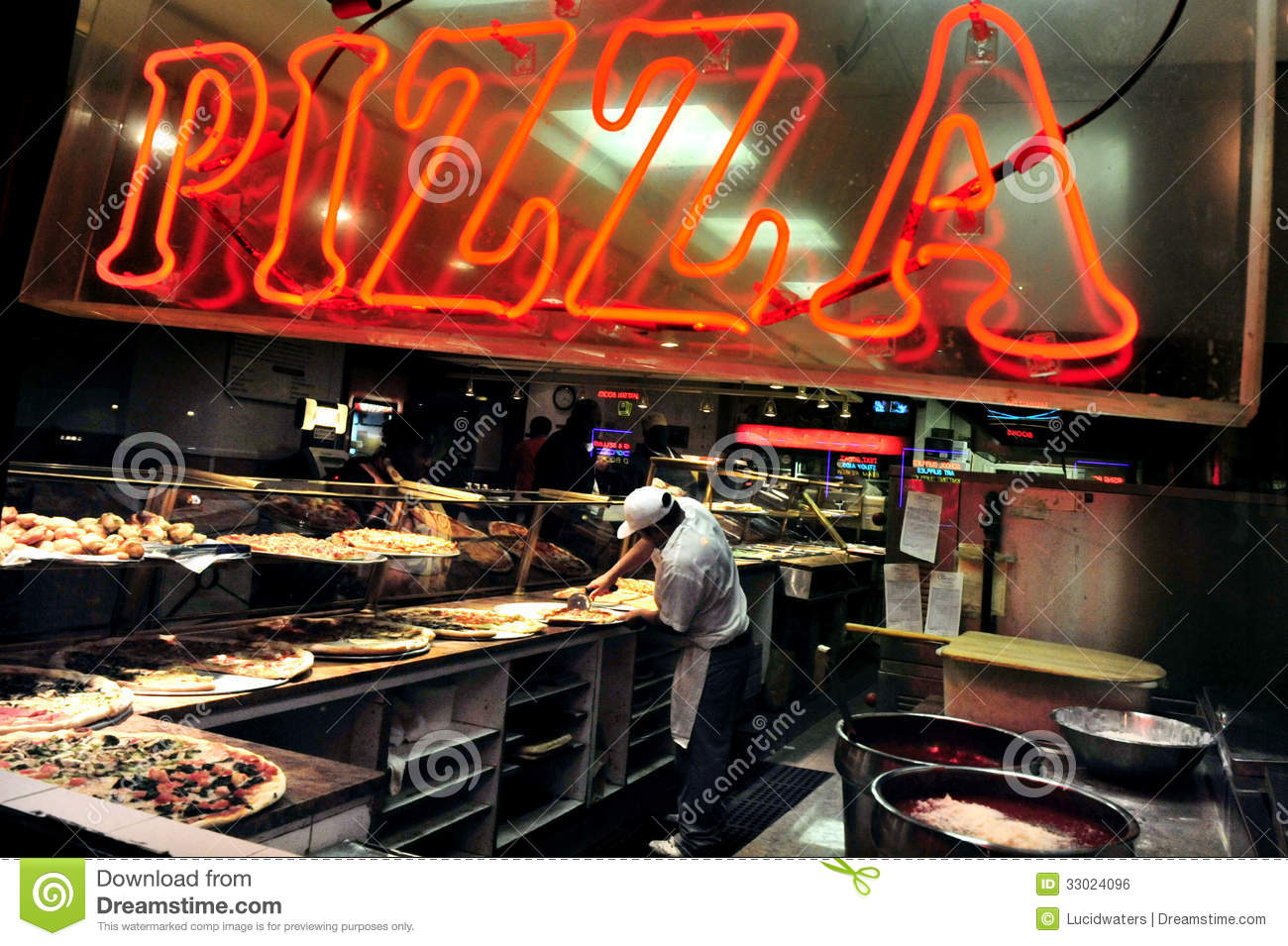 Fast food pizza editorial photo image of america york for American cuisine restaurants in nyc