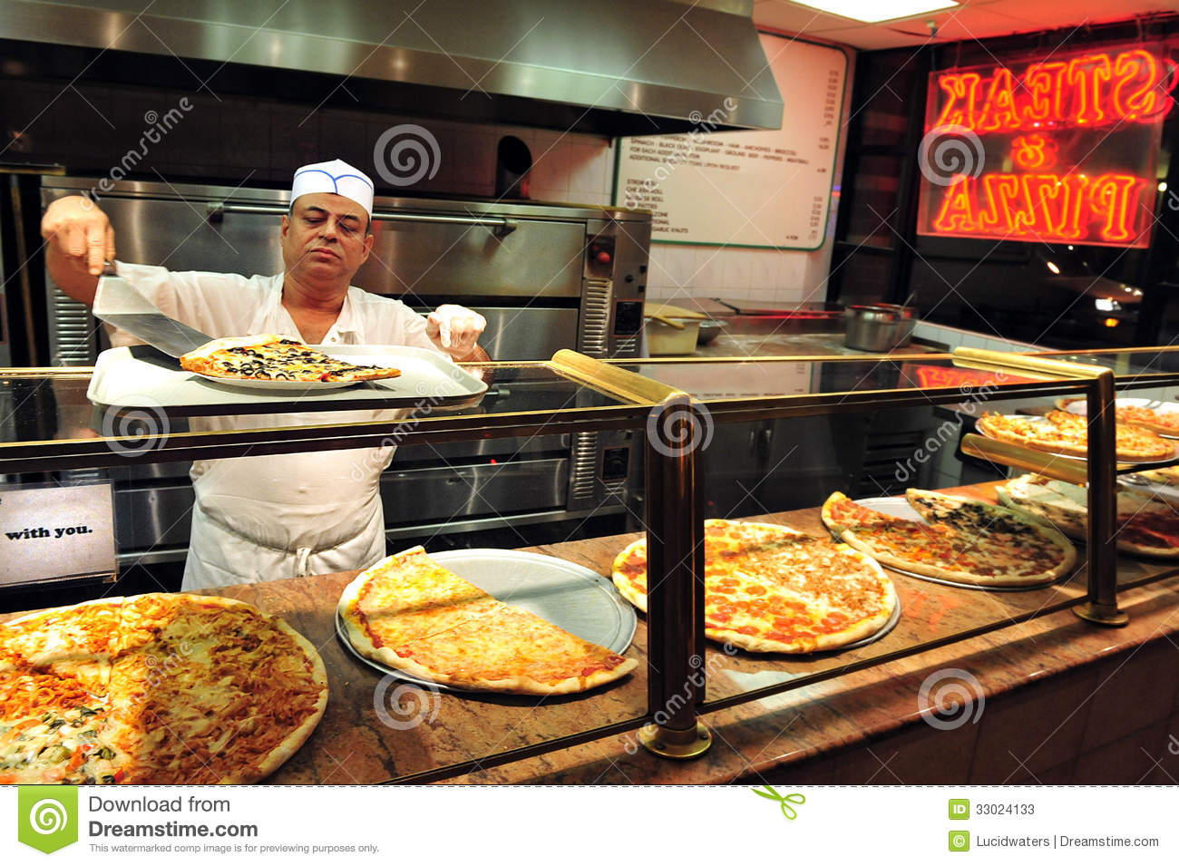 Fast food pizza editorial stock photo image 33024133 for Pizza pizzeria
