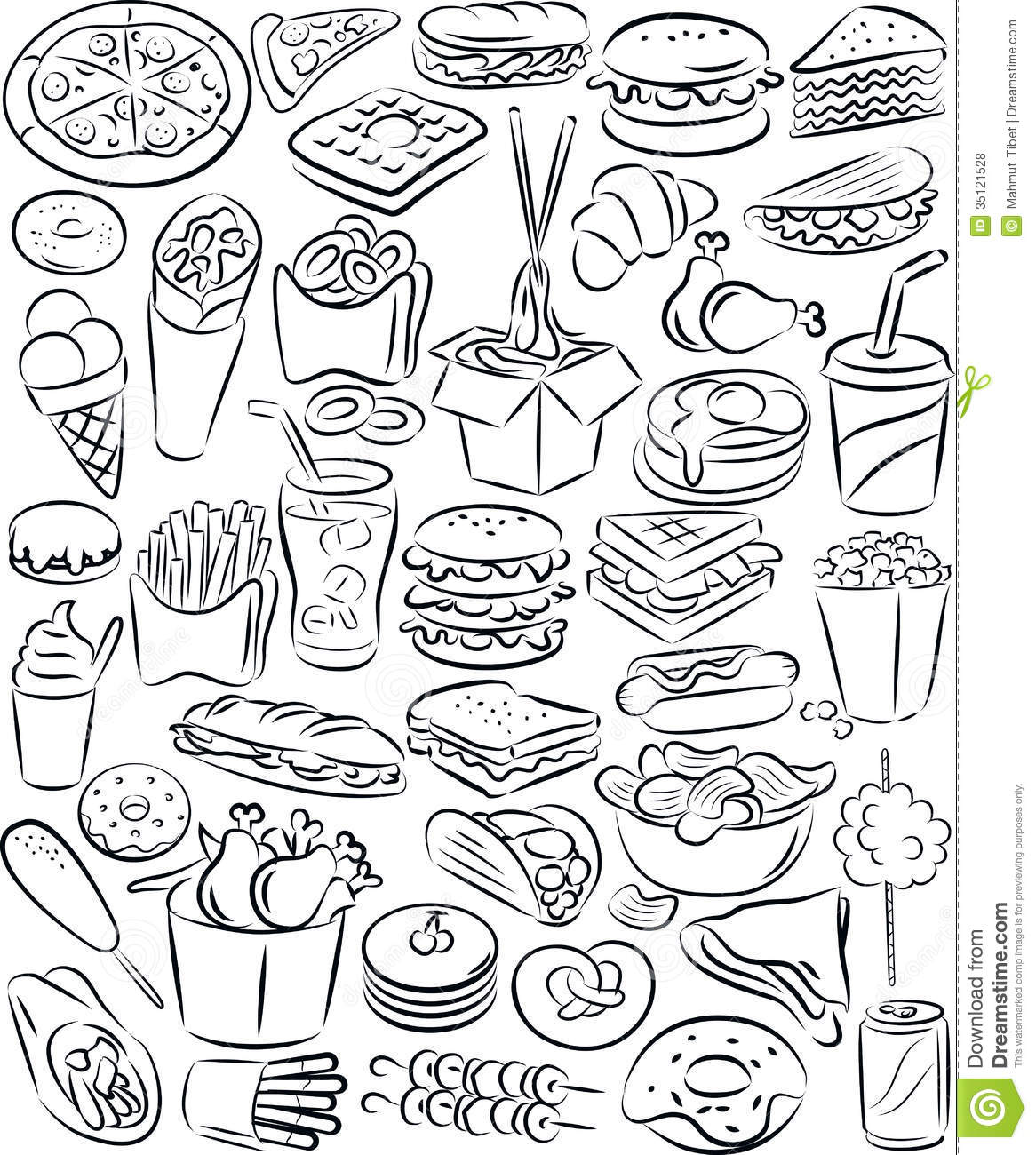 free black white food clipart images - photo #44