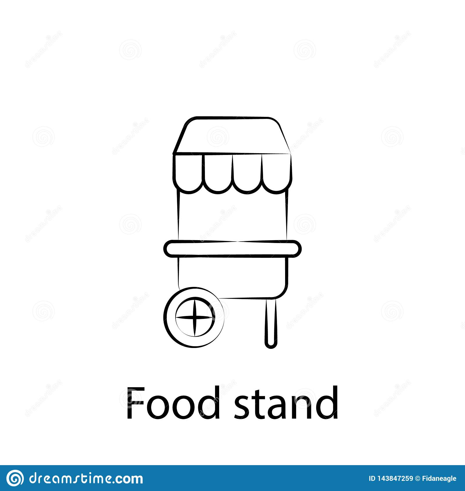 Fast food stand outline icon. Element of food illustration icon. Signs and symbols can be used for web, logo, mobile app, UI, UX