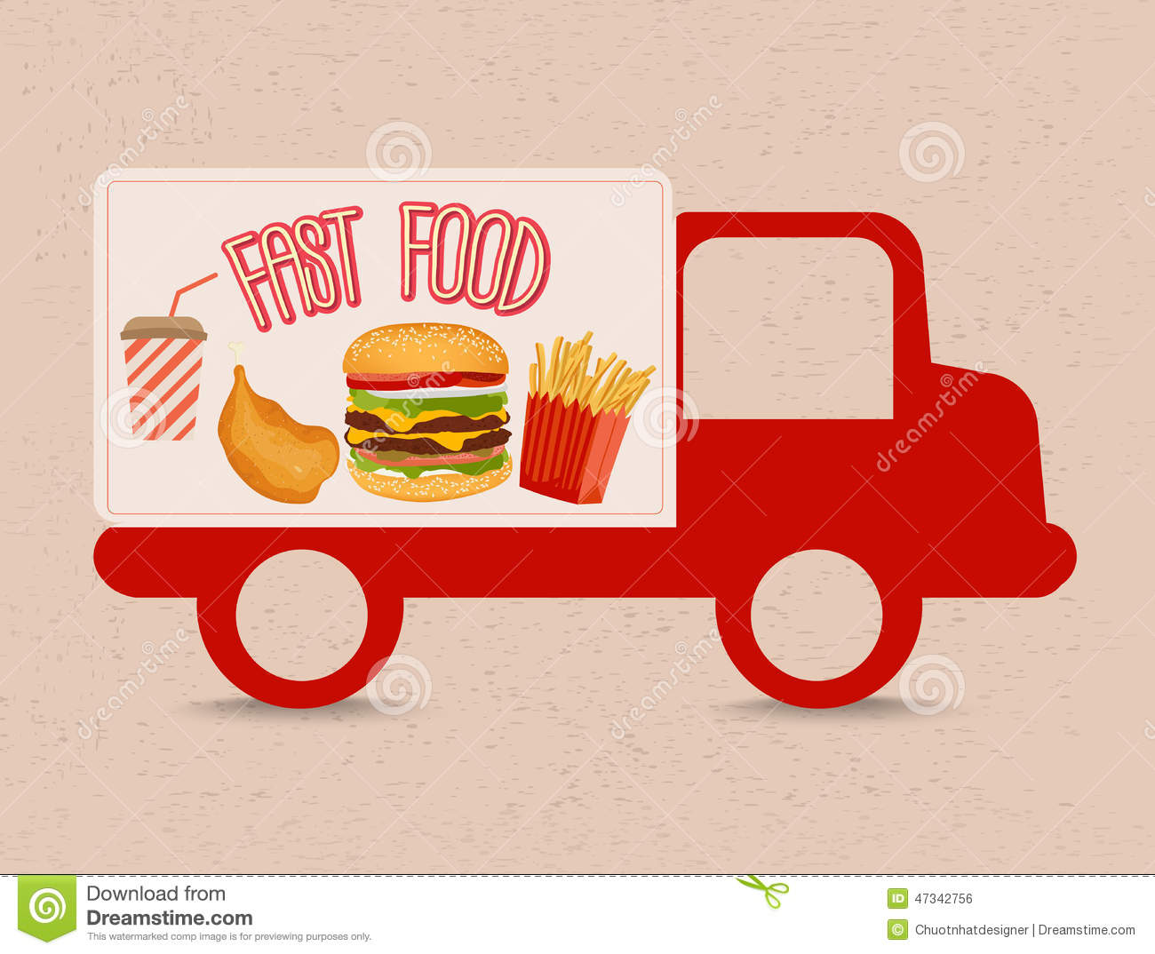 Fast food truck stock vector image 47342756 for Fast food decoration