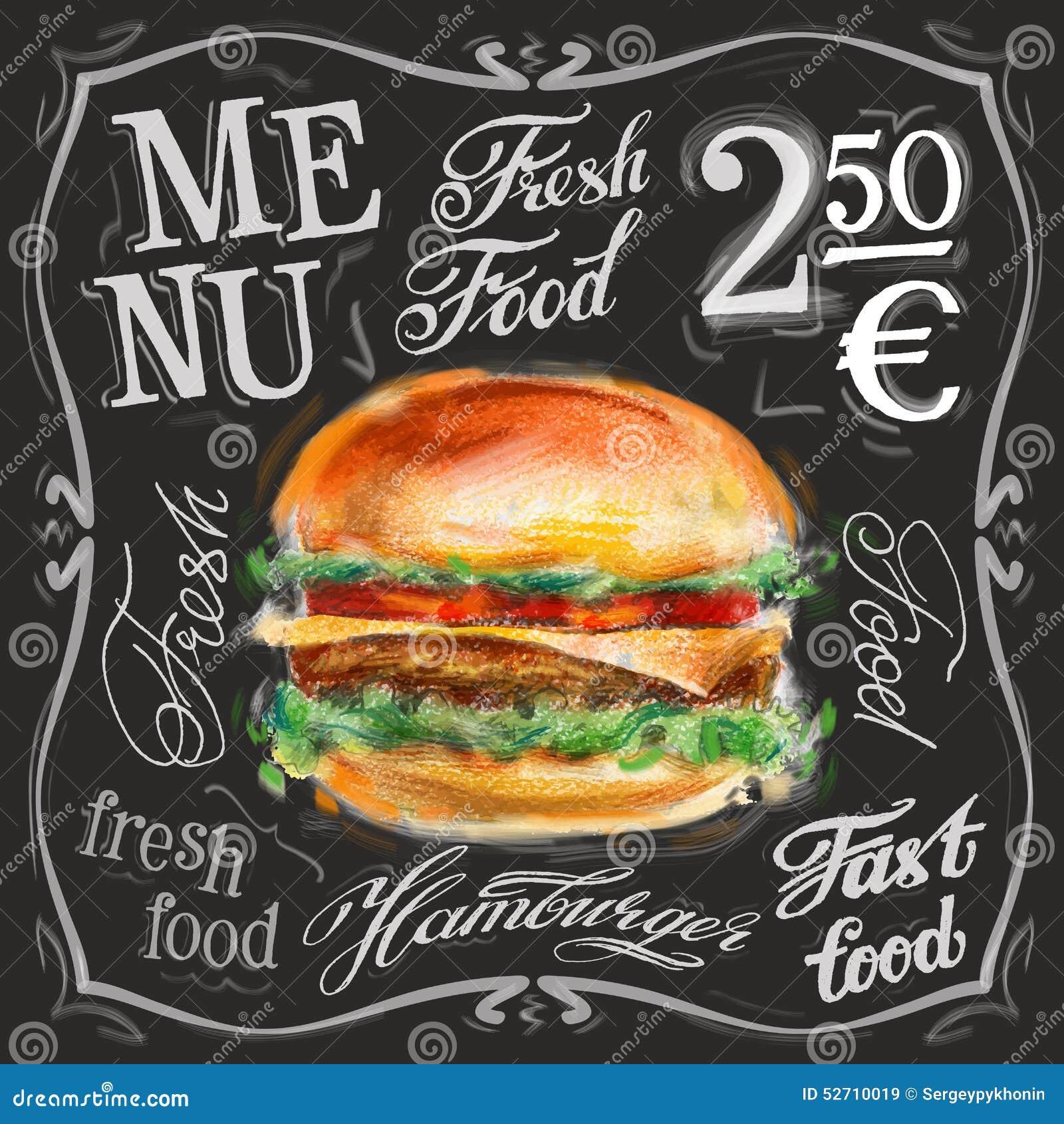 fast food vector logo design template hamburger stock vector
