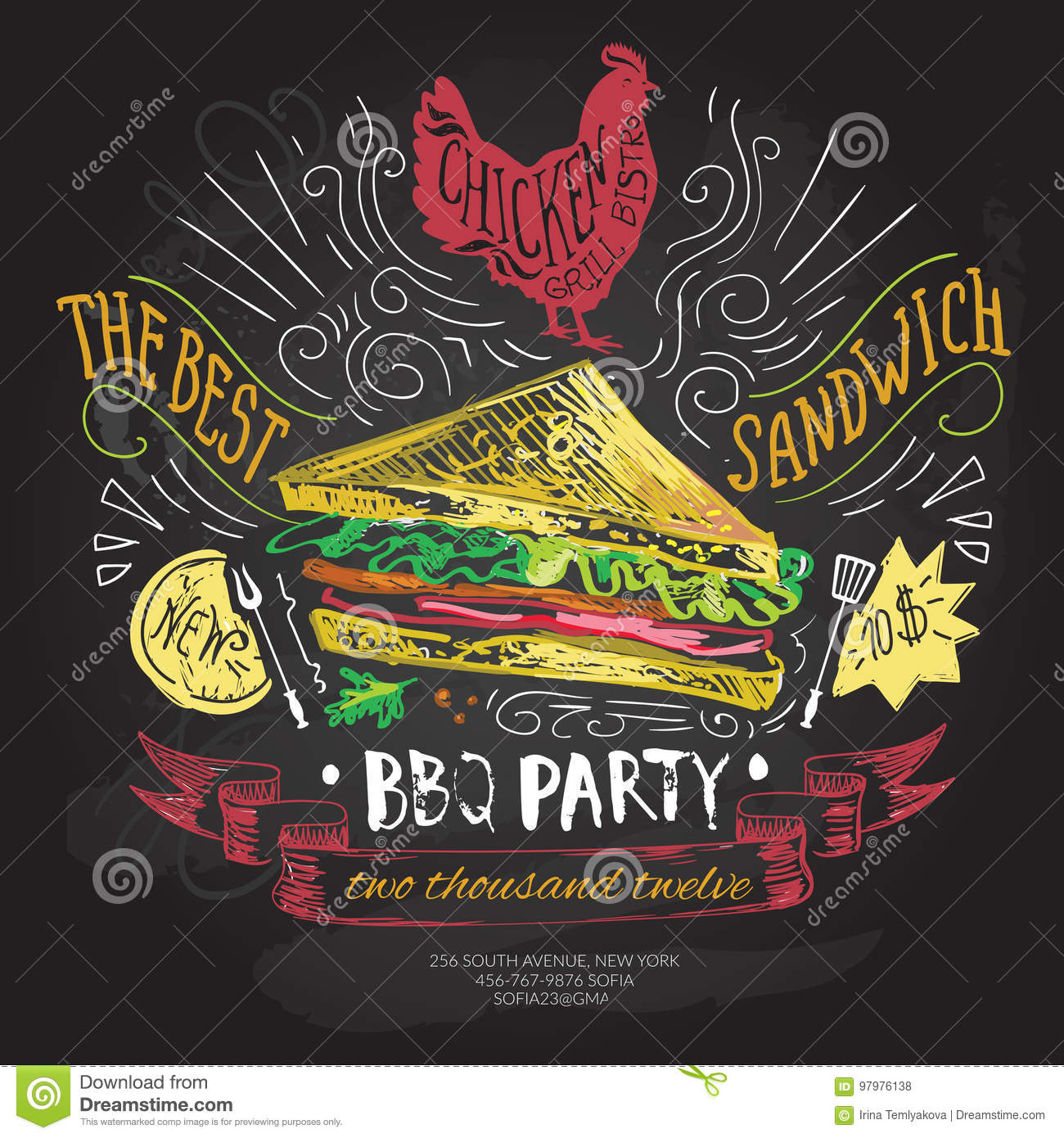 Fast Food Vector Logo Design Template. Sandwich Or Menu Board Icon ...