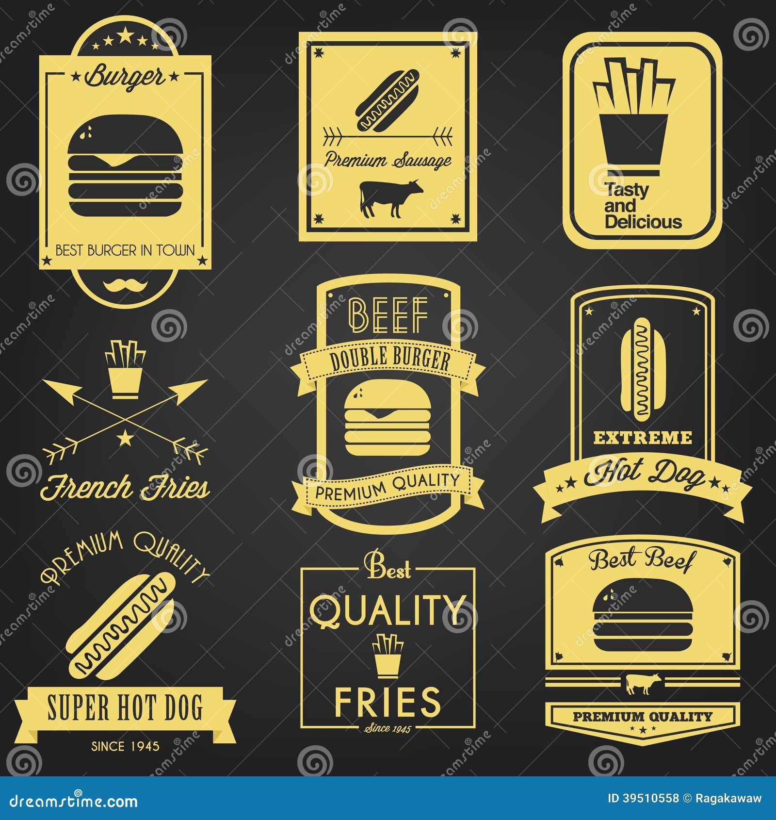 Fast Food Vintage Label
