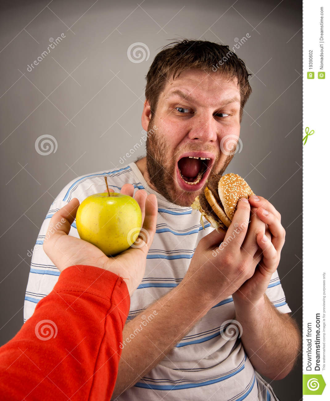 Fast food vs healthy food stock photos royalty free pictures for Lean cuisine vs fast food