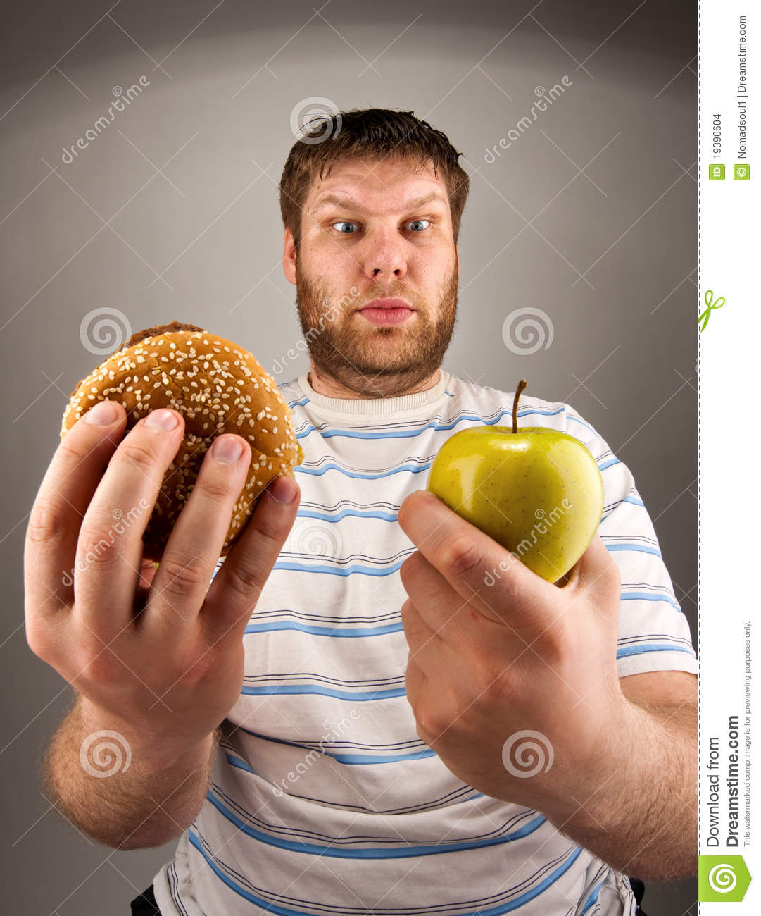 Fast food vs healthy food stock images image 19390604 for Lean cuisine vs fast food
