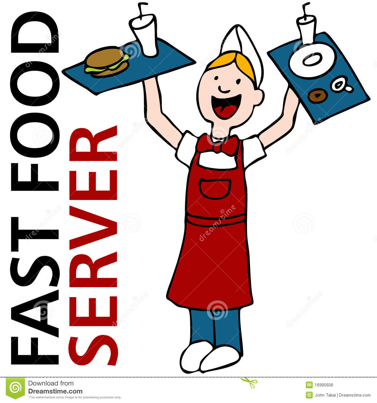 Fast Food Worker Clipart