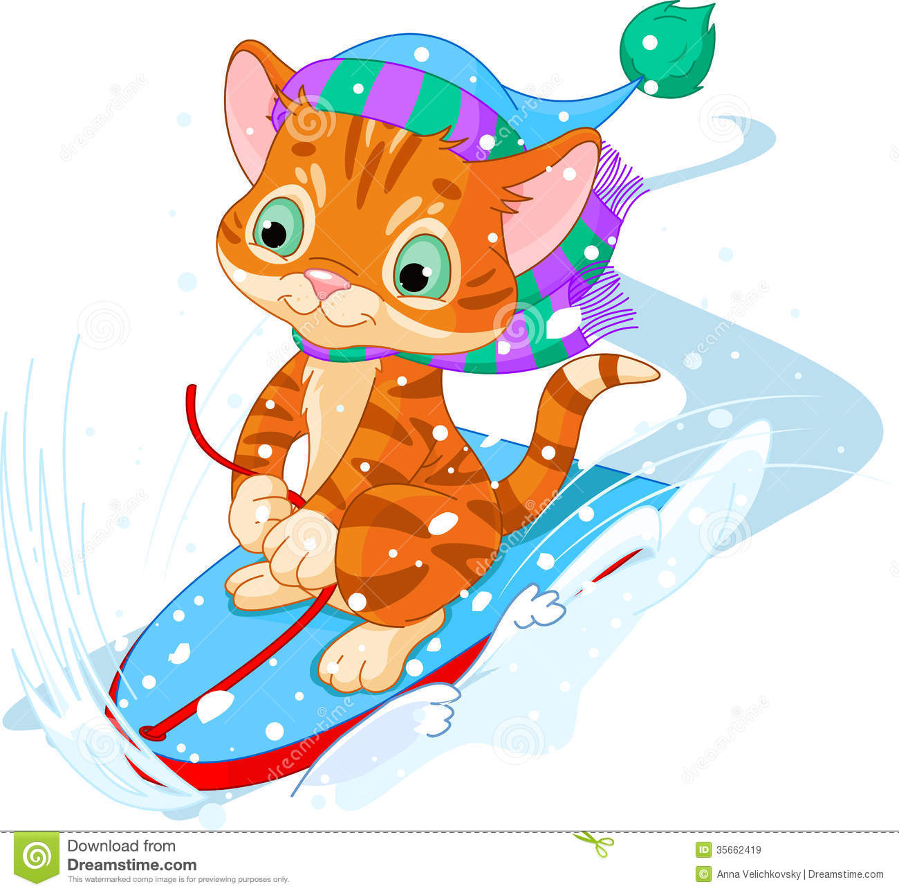Fast Fun Kitten Royalty Free Stock Images - Image: 35662419