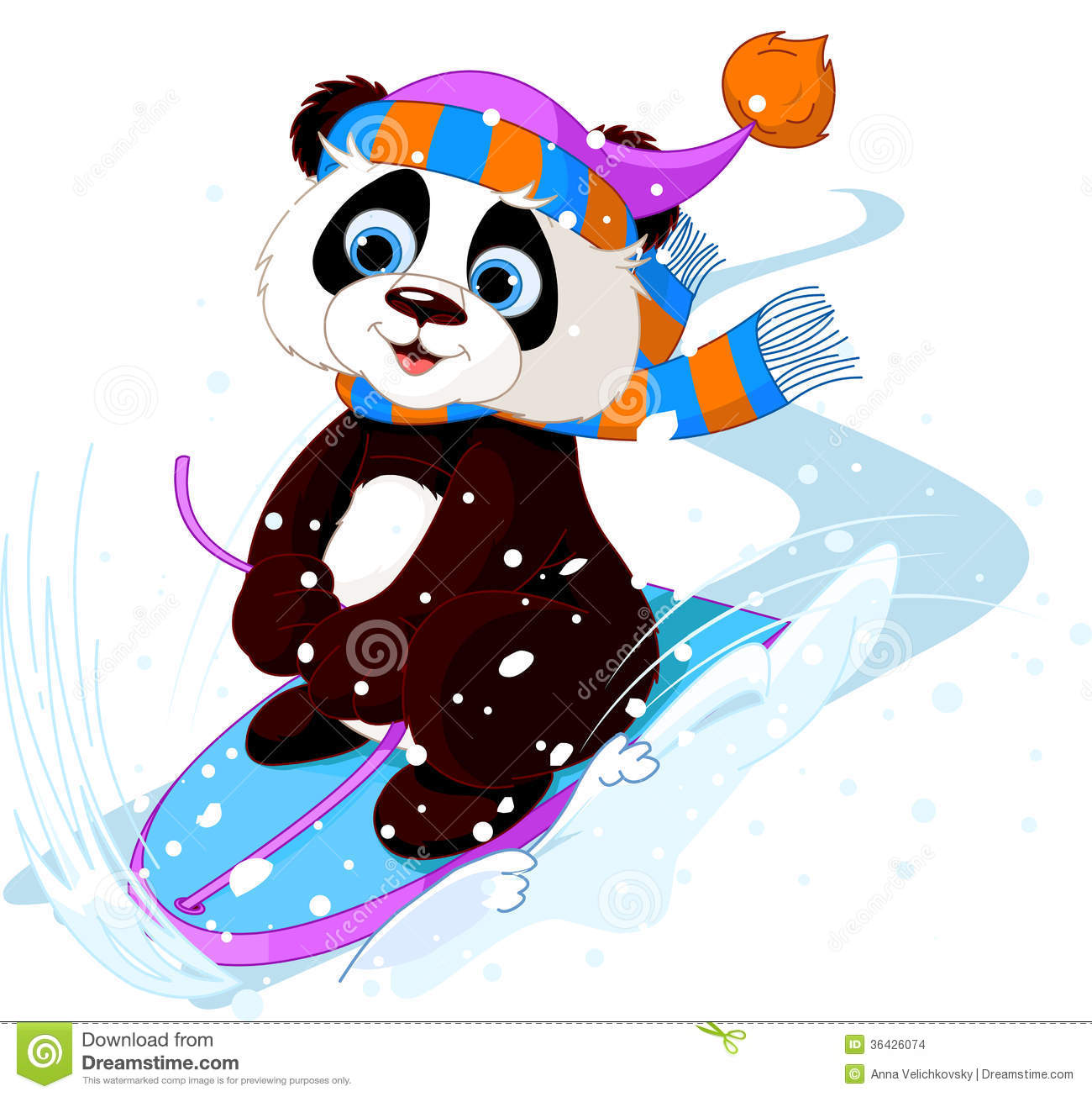 clipart panda winter - photo #44