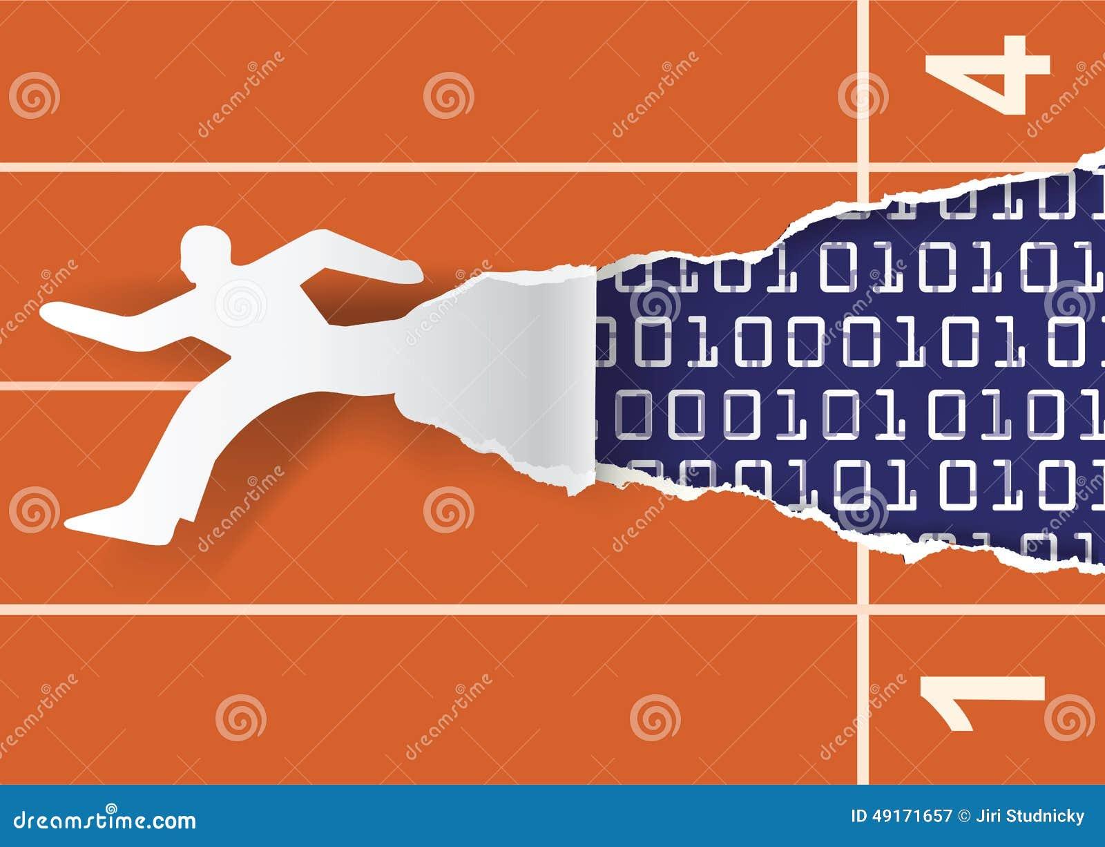 fast internet promotional flyer template stock vector illustration