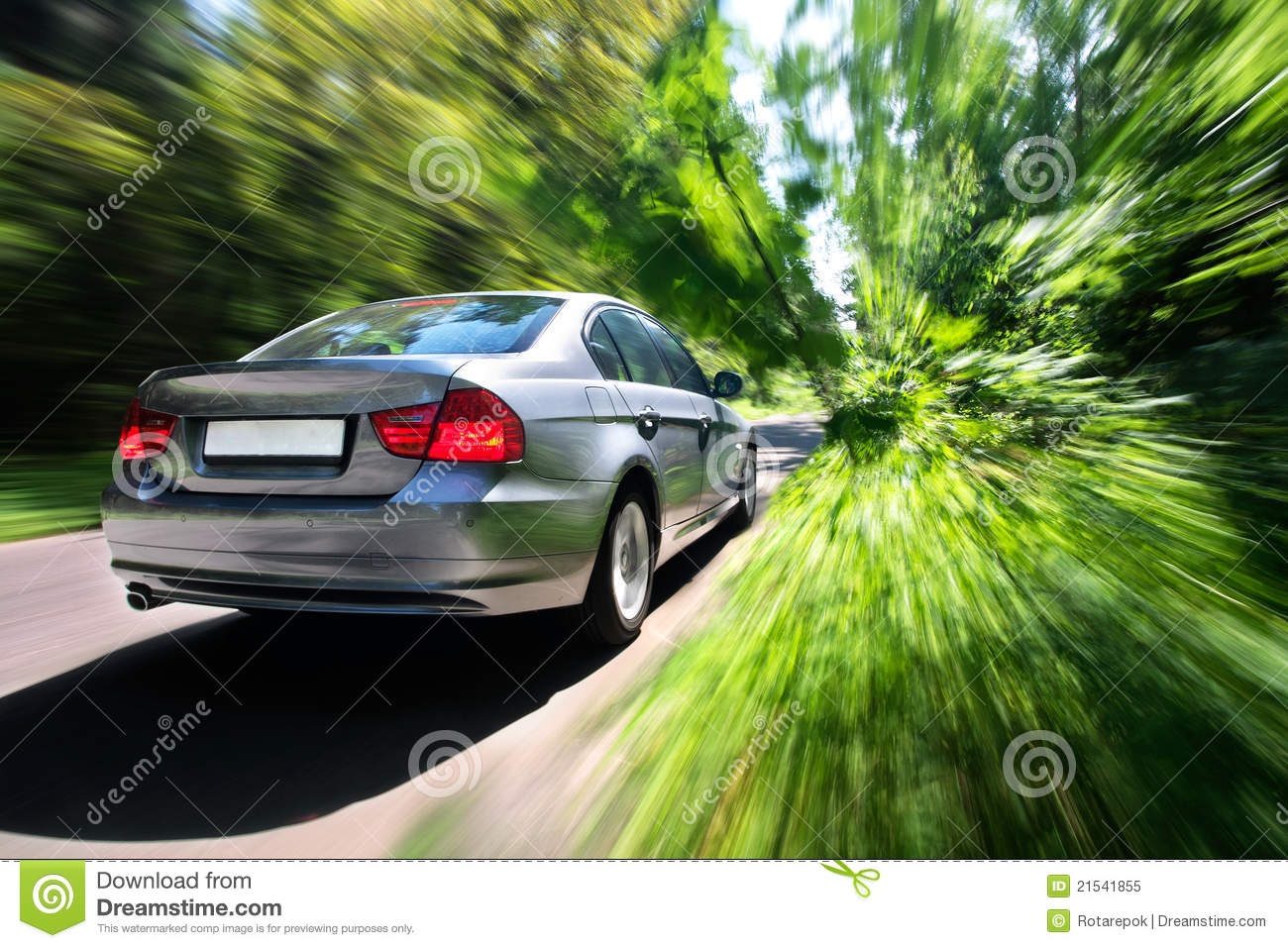 Fast Moving Car Stock Image. Image Of Countryside, Wheel