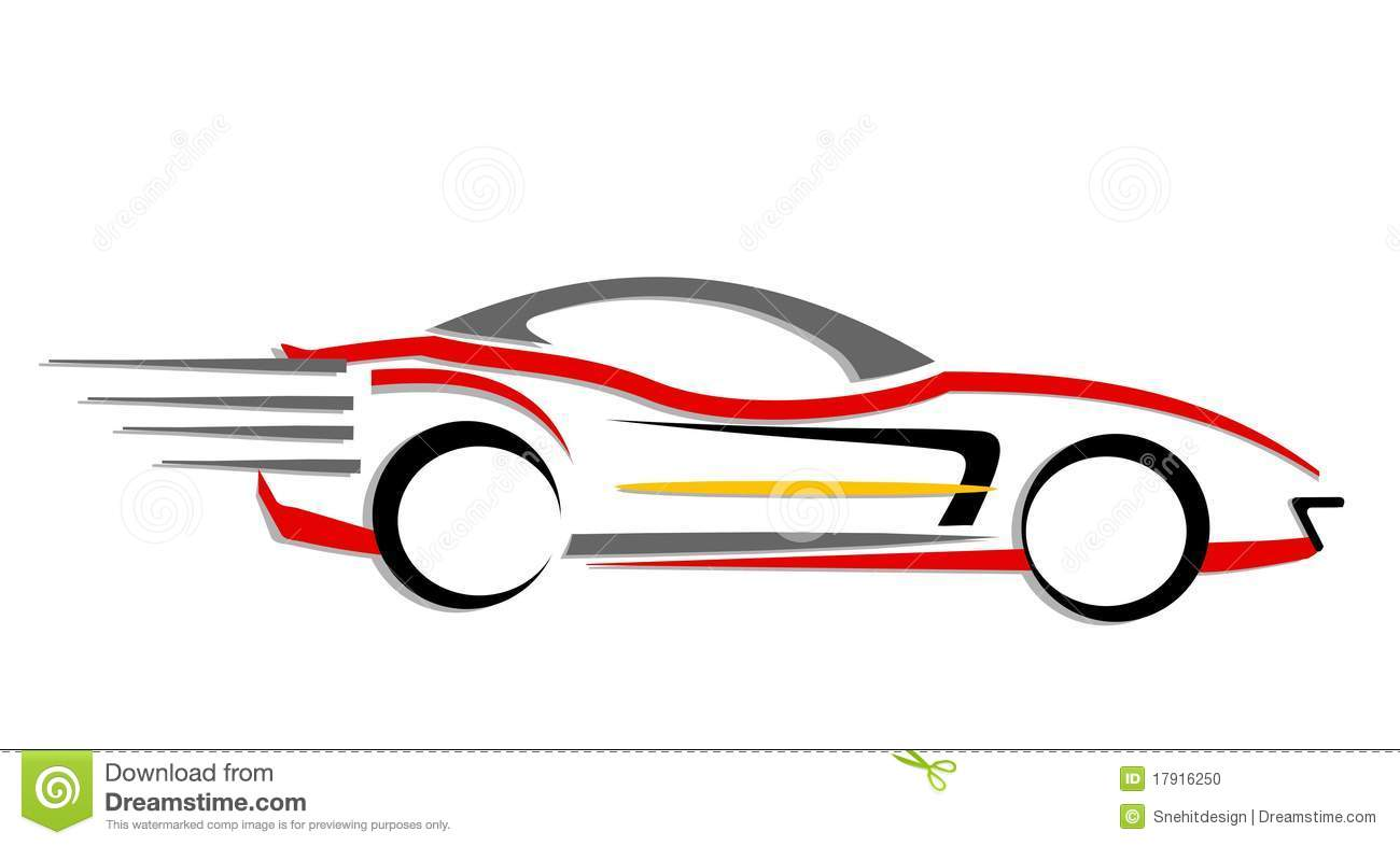 Fast Moving Car Icon Stock Photo Image 17916250