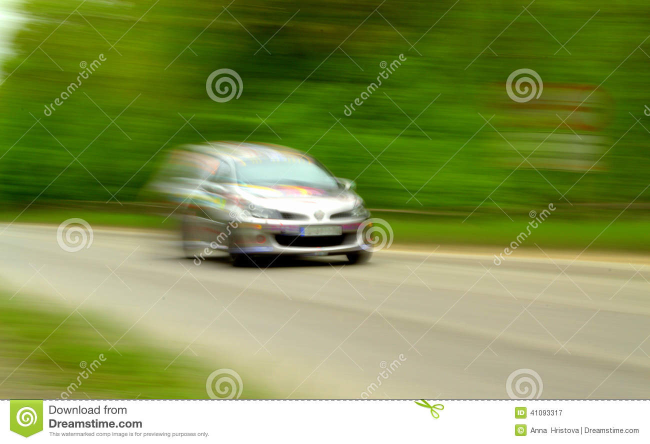 At a fast speed stock image. Image of drive, competition