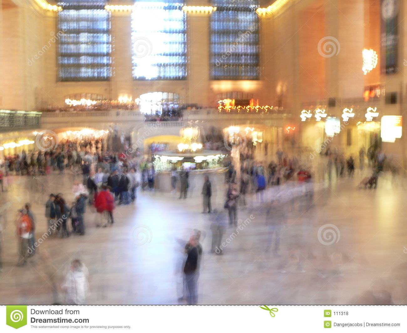 Fast paced Grand Central Terminal, New York City