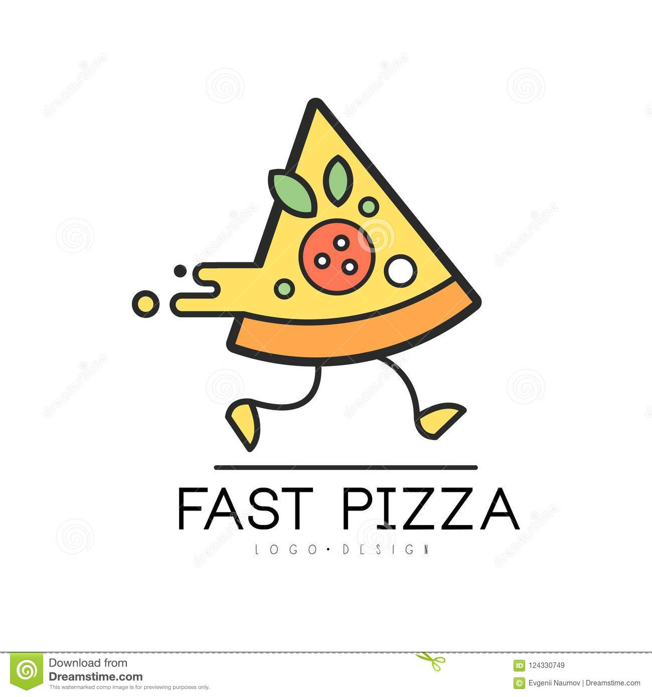 Fast Pizza Logo Design, Food Service Delivery, Creative Template ...