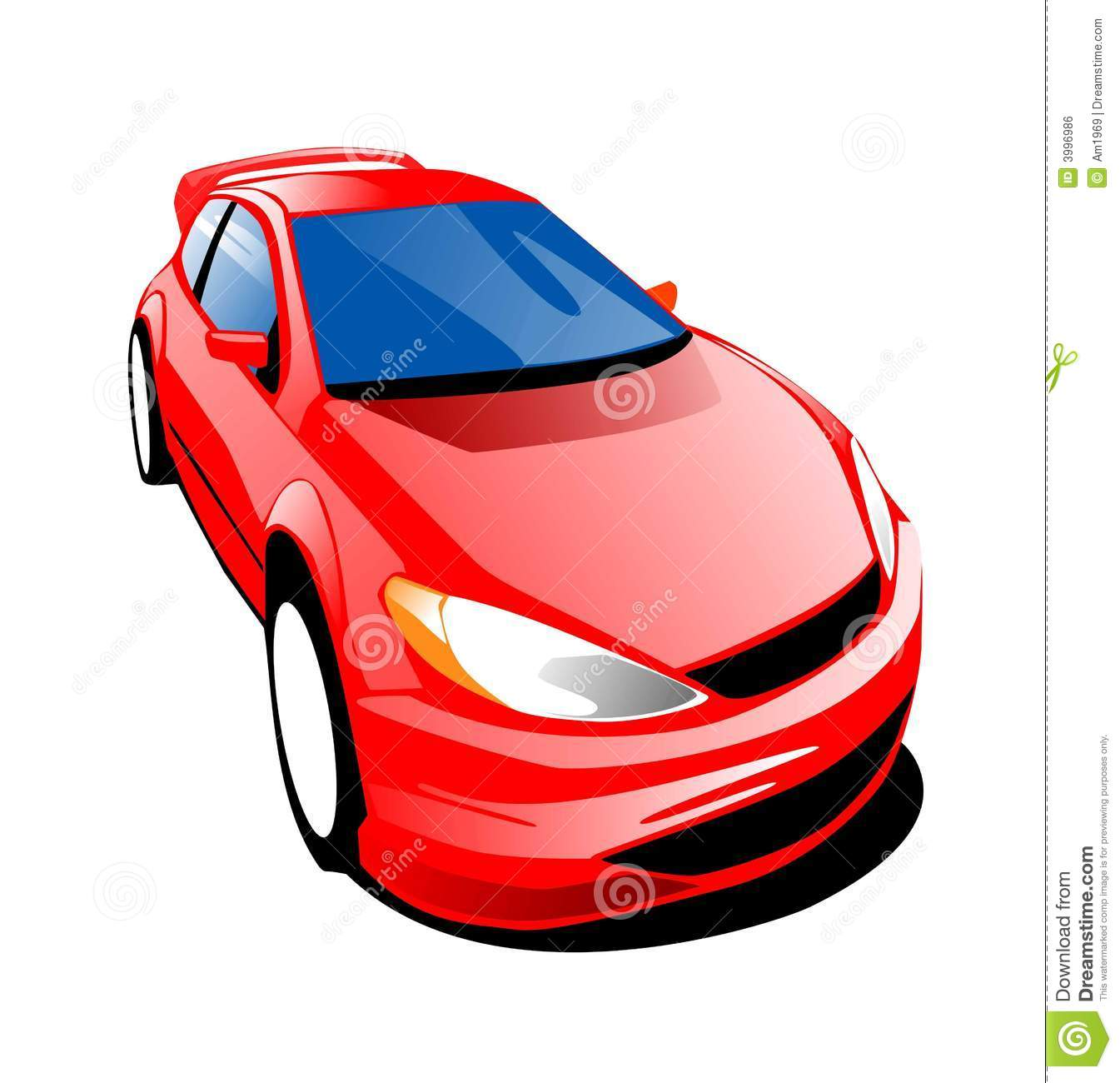 Fast Red Car Stock Illustration. Illustration Of Sports