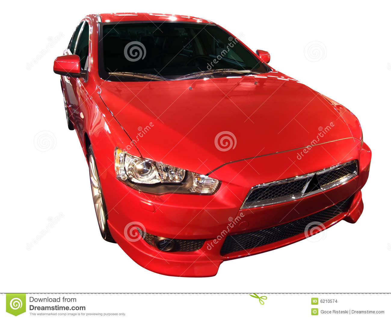 Fast red car