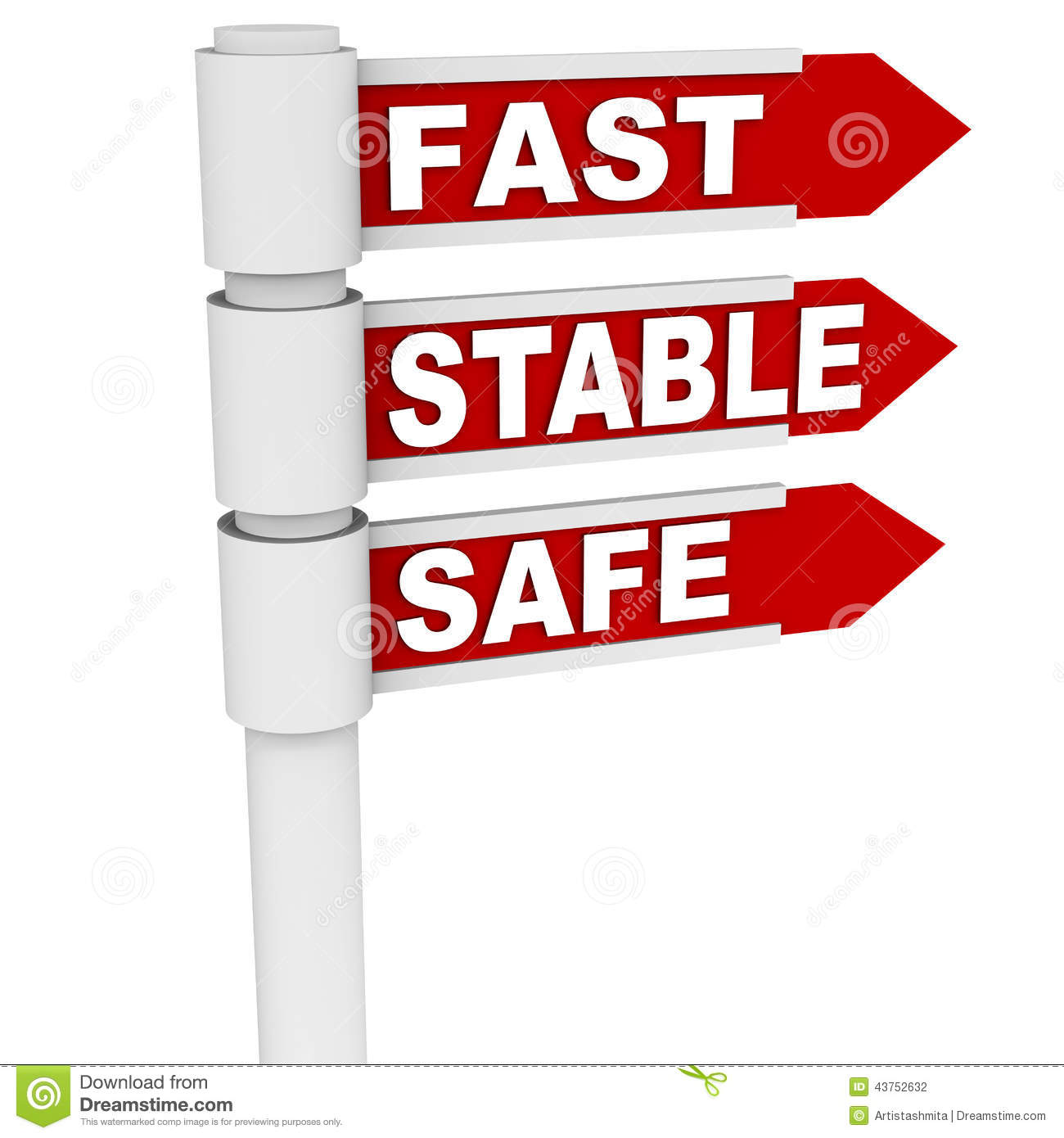 Fast Stable And Safe Stock Illustration Illustration Of