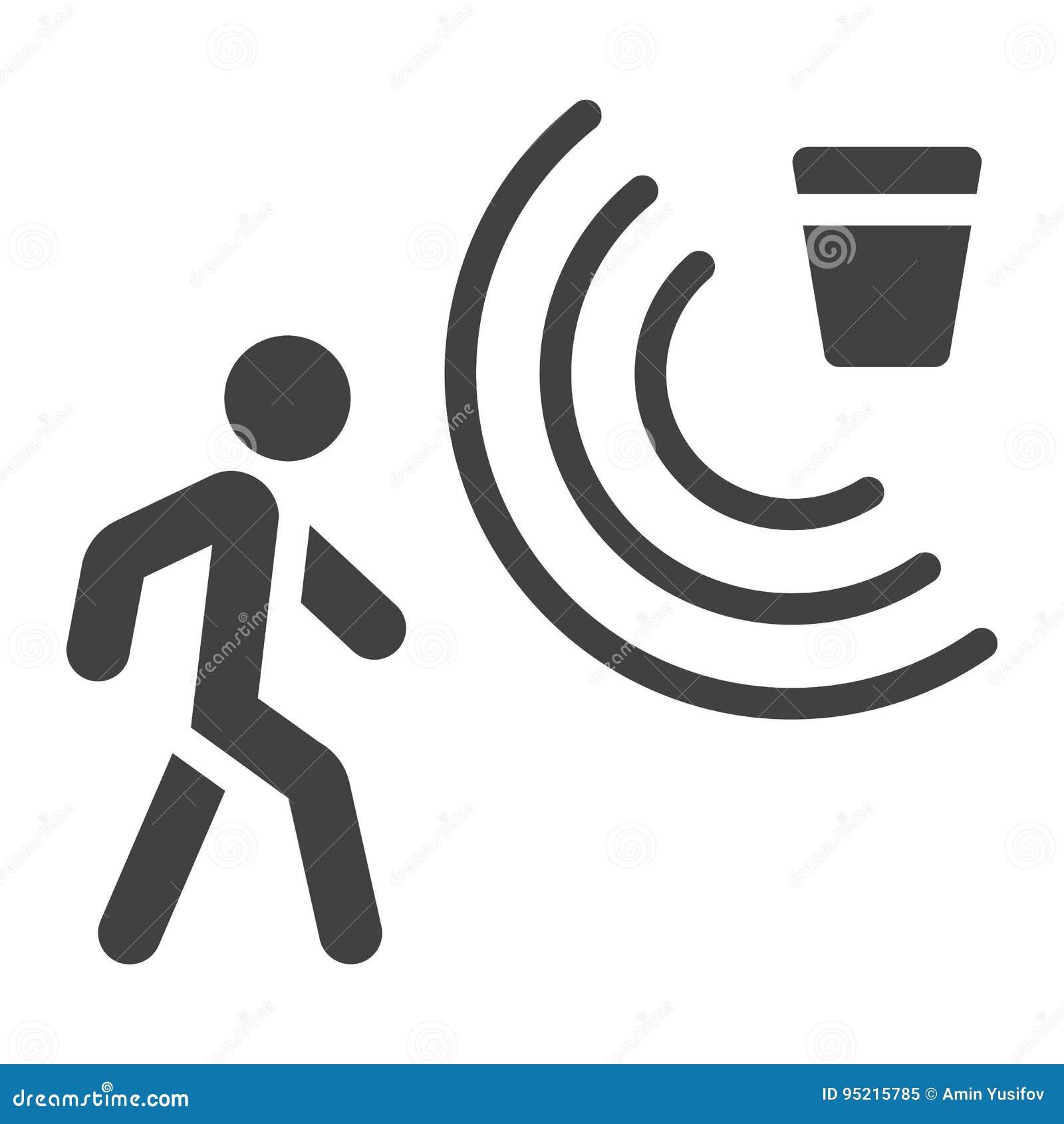 Fast symbol, säkerhet och vakt för rörelseavkännare