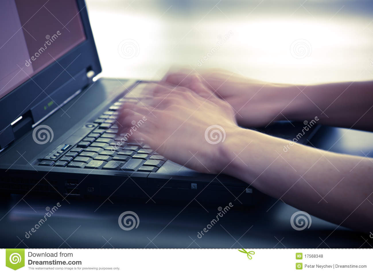 Fast Typing On Computer Royalty Free Stock Photos Image