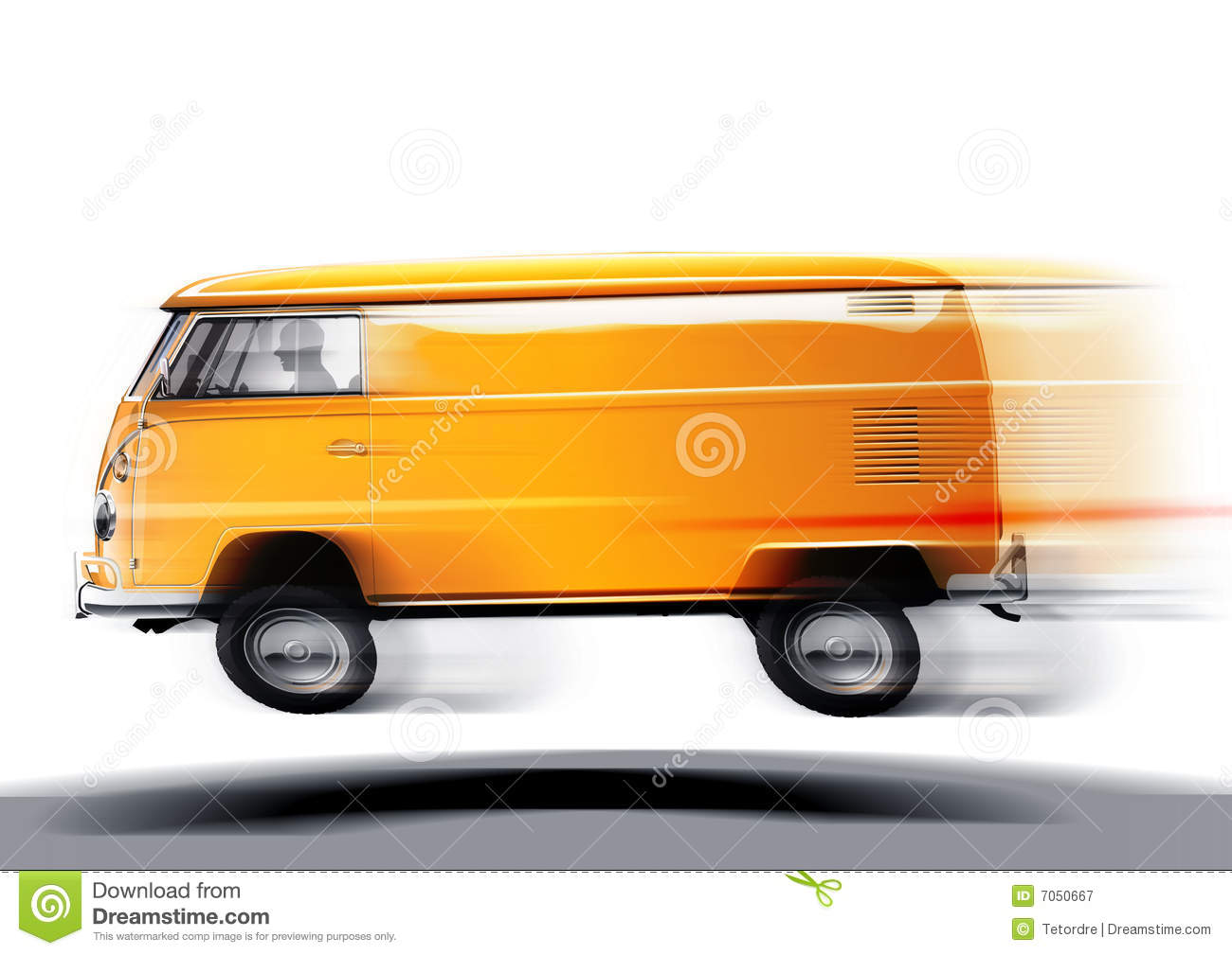 Fast Volkswagen Transporter Royalty Free Stock Photography