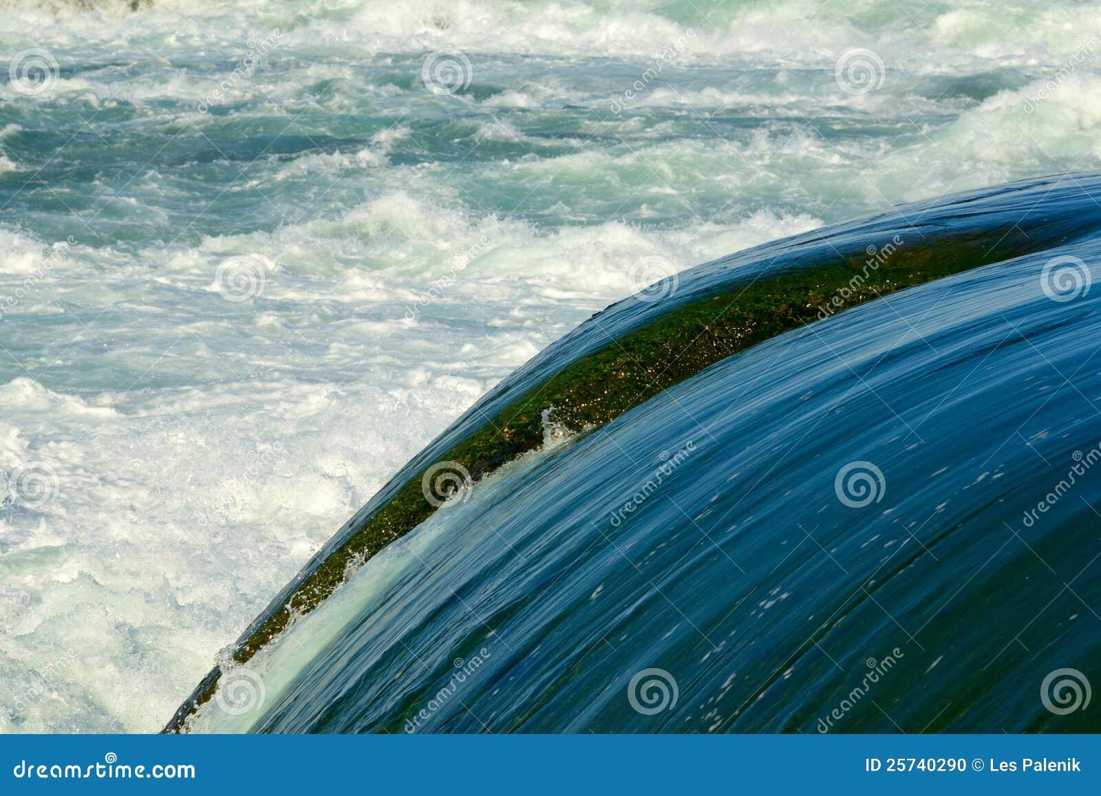 Fast water in Niagara River