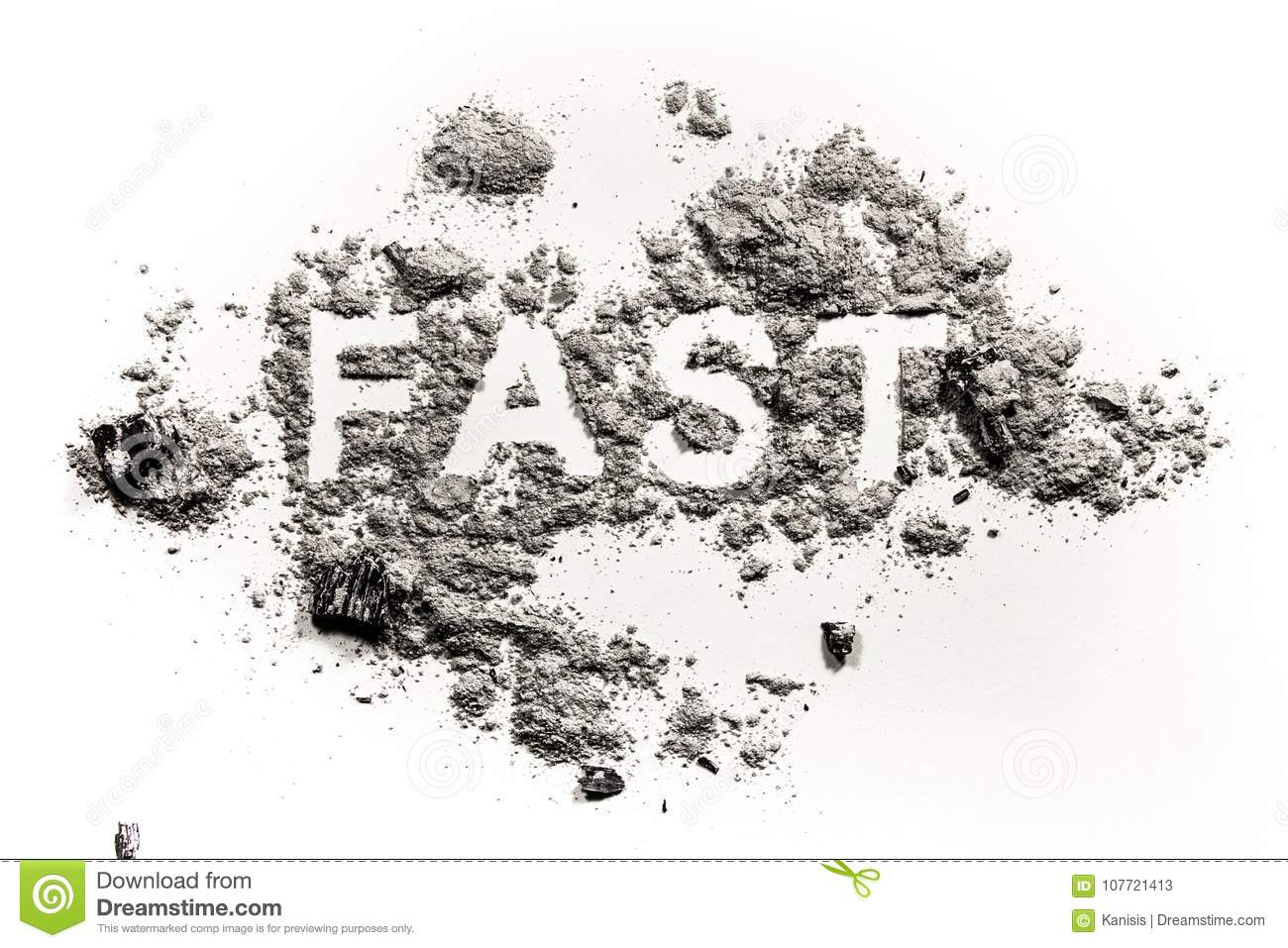 Fast Word Written In Ash, Dust Or Sand Stock Image - Image of ...
