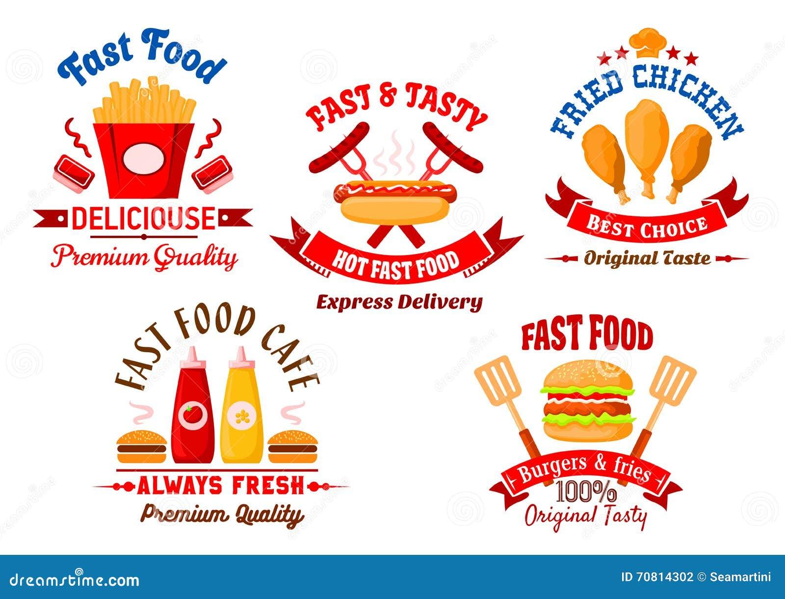 Fasta food grilla i kawiarni restauracyjne retro odznaki