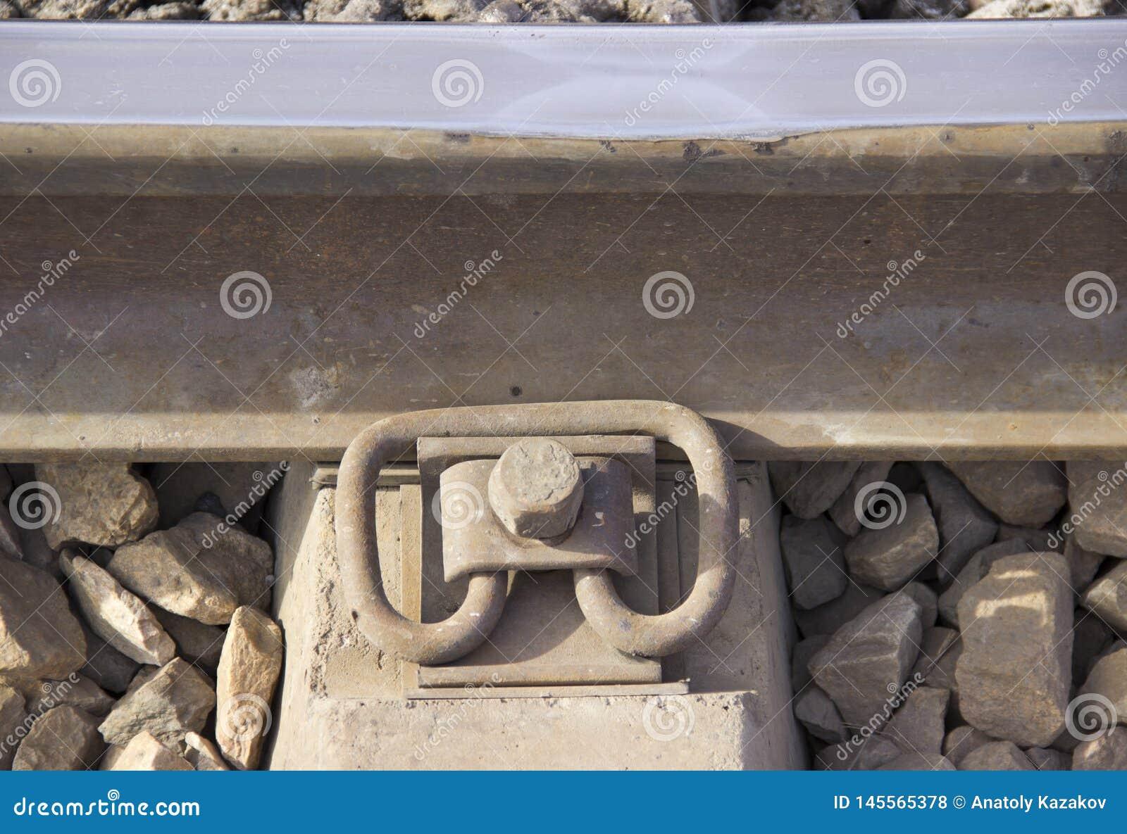 Fastening of railway