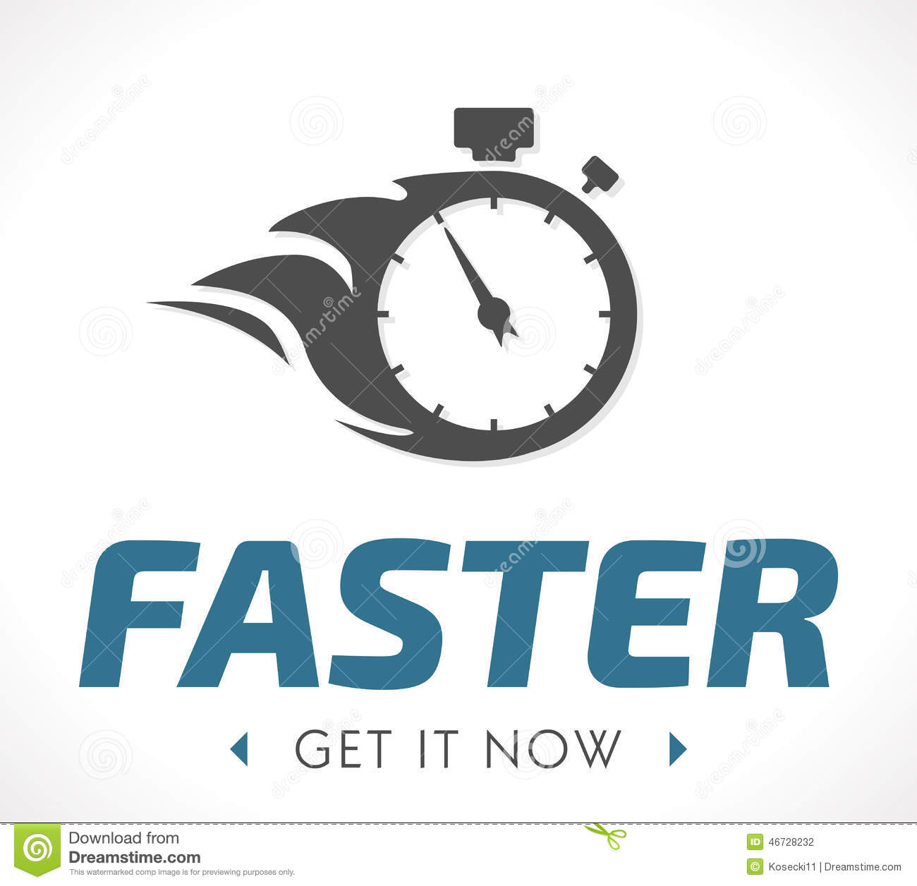 Faster Logo Stock Vector - Image: 46728232