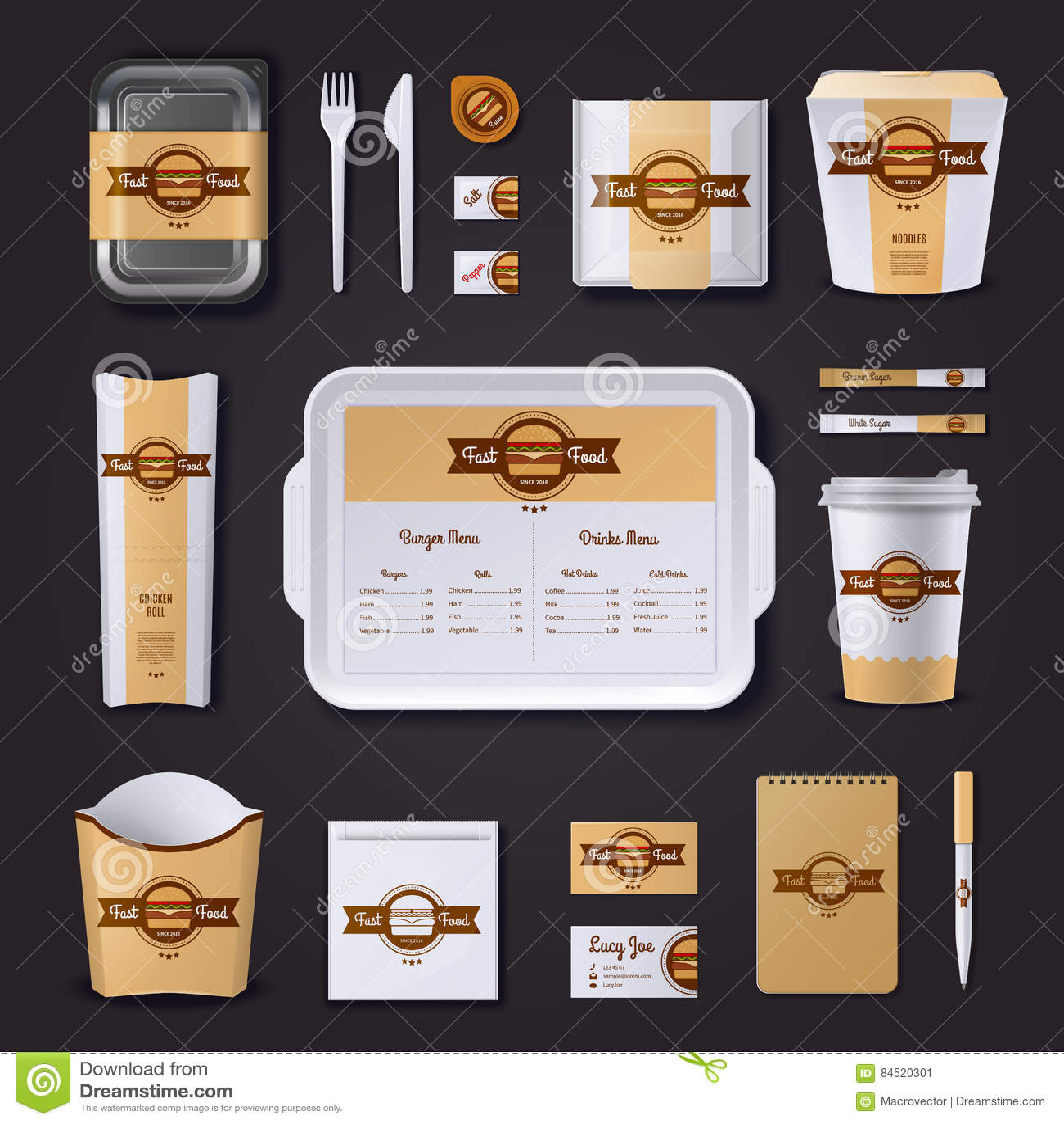 Fastfood restauraci Korporacyjny projekt