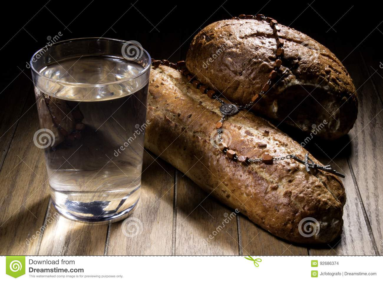 Fasting For Bread And Water Stock Photo Image Of Diet Battle 92686374