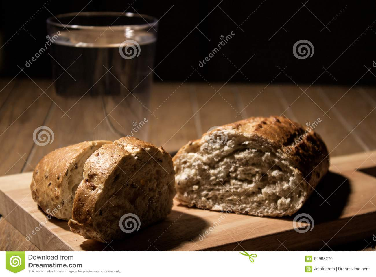 Fasting For Bread And Water Stock Photo Image Of Diet Holly 92998270