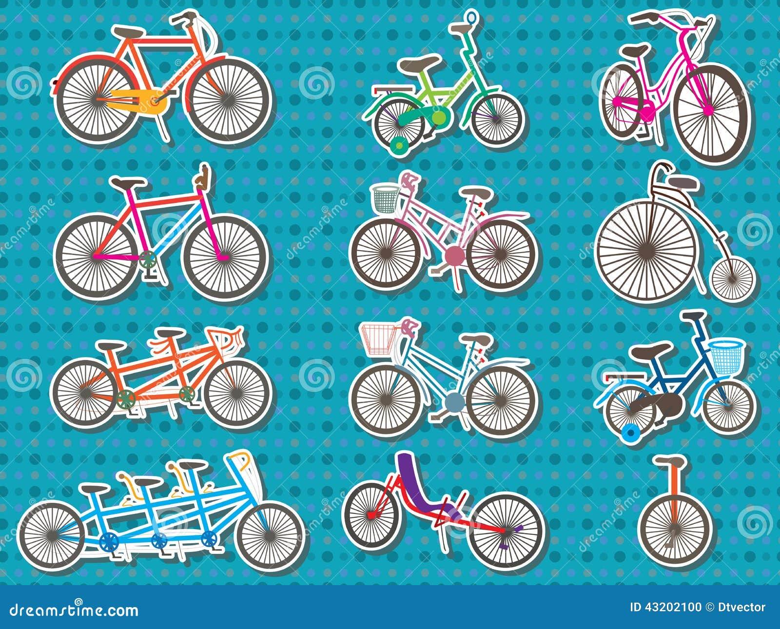 Download Fastställd Klistermärke För Cykel Vektor Illustrationer - Illustration av element, samlingar: 43202100