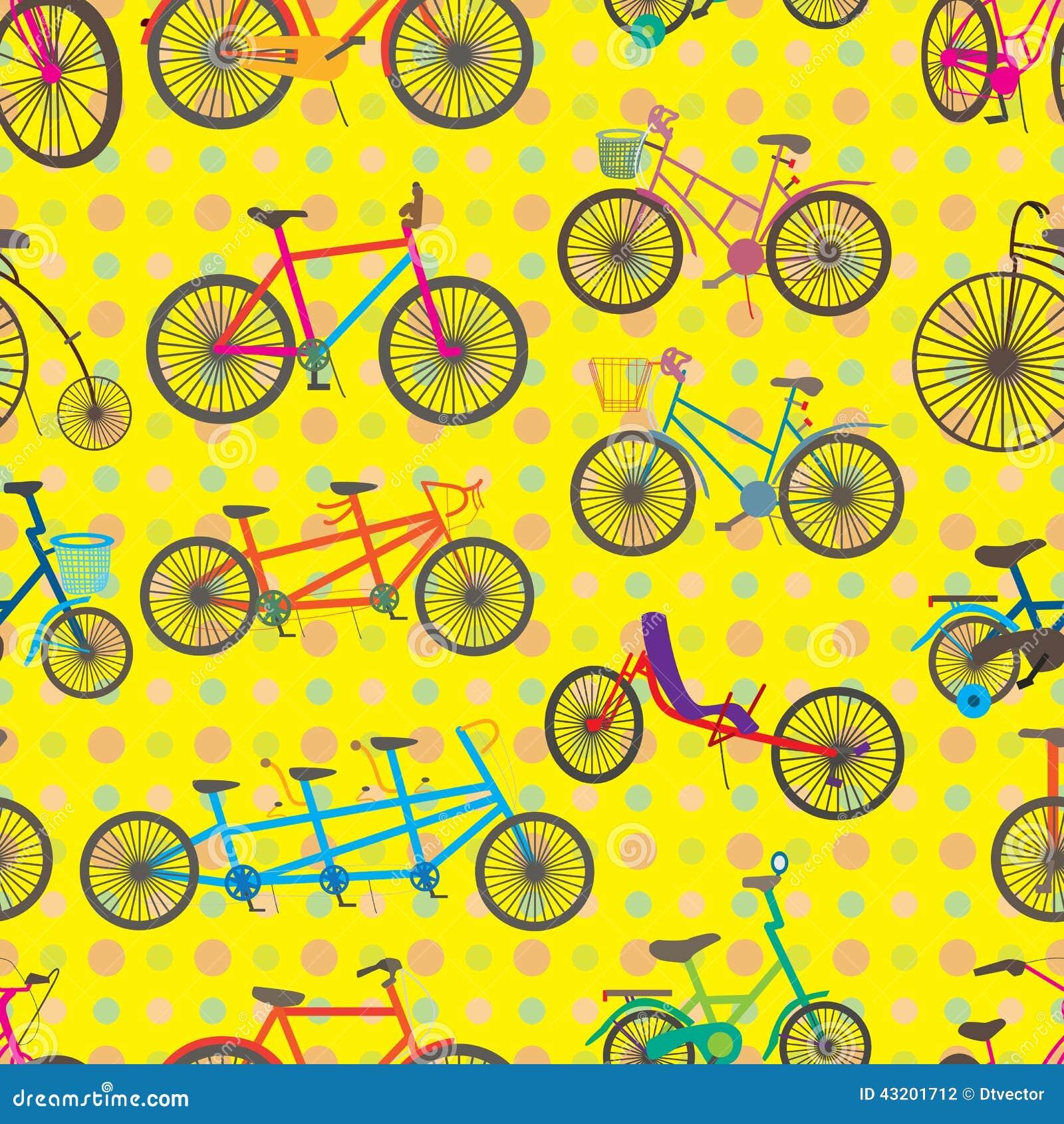 Download Fastställd Sömlös Modell För Cykel Vektor Illustrationer - Illustration av hobby, flicka: 43201712