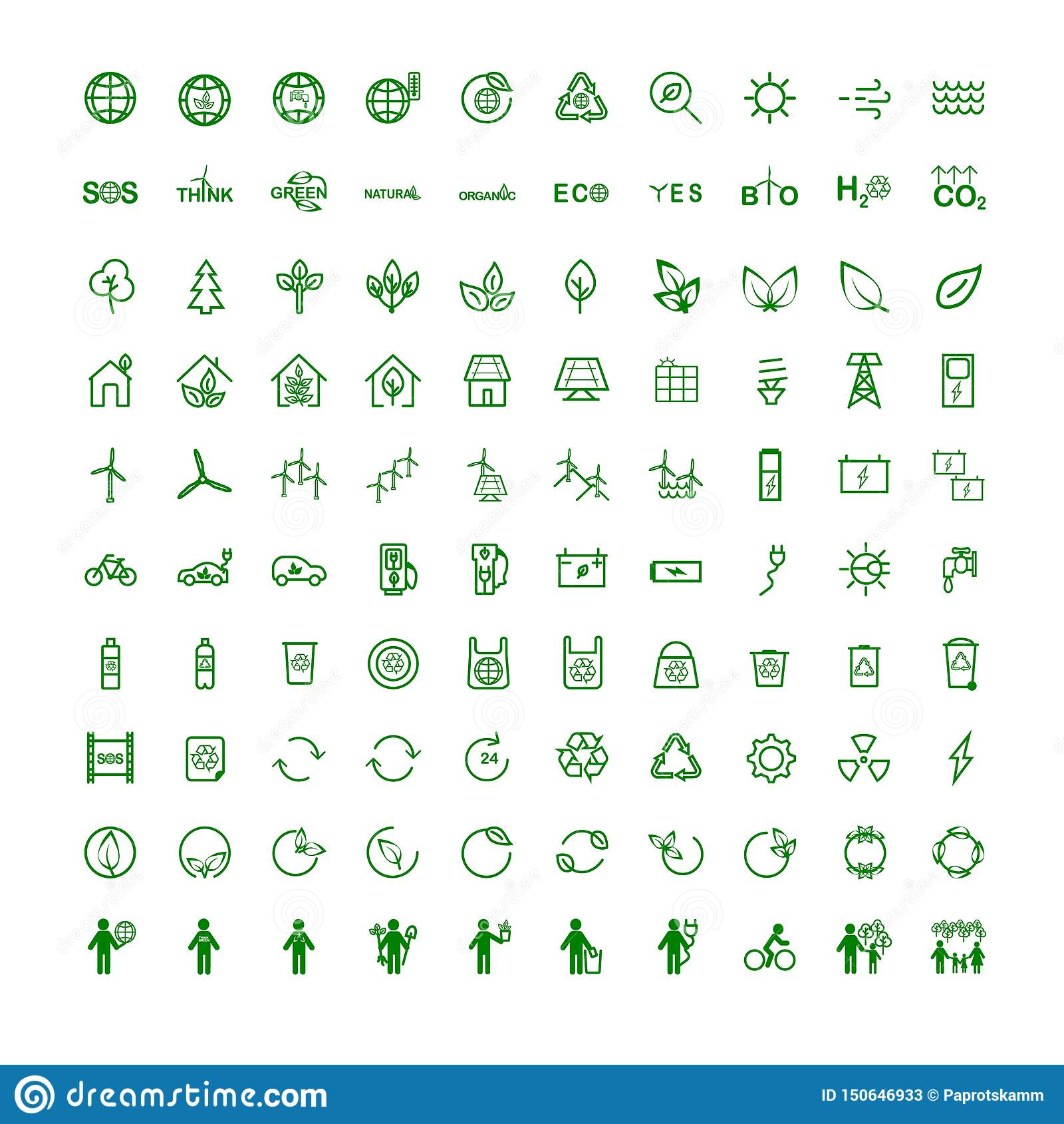 Fastställda symboler på ämneekologi