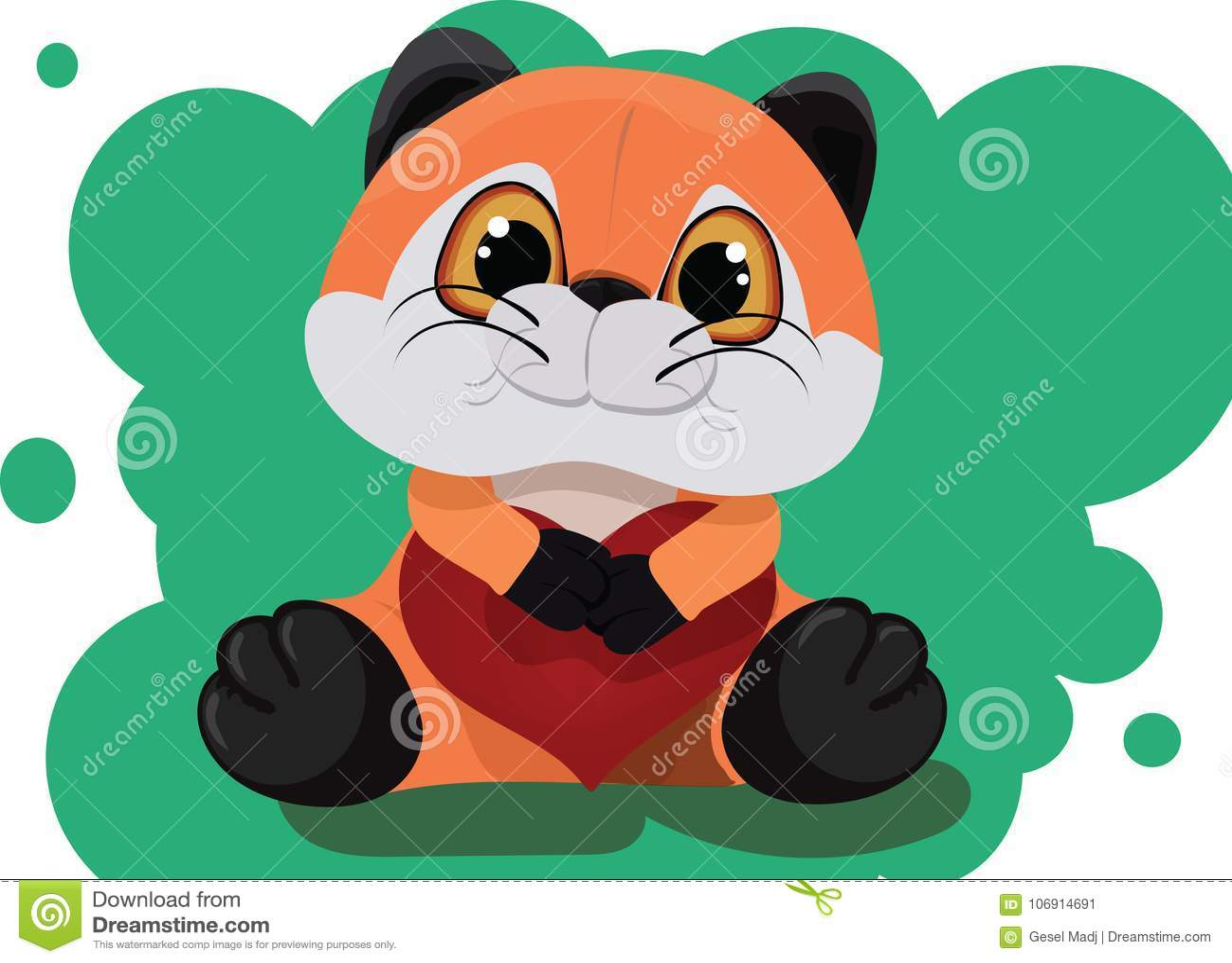 Faszerujący zabawkarski Fox z sercem