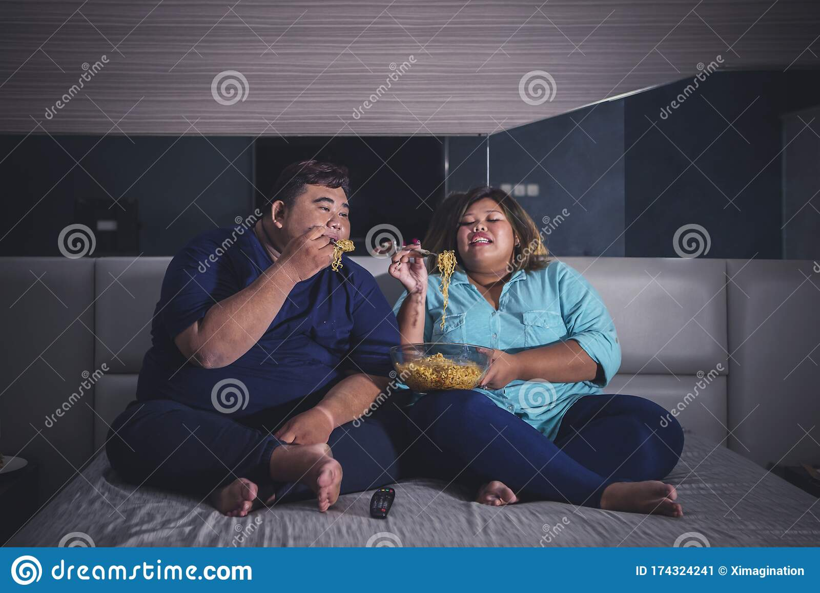 Fat asian couple