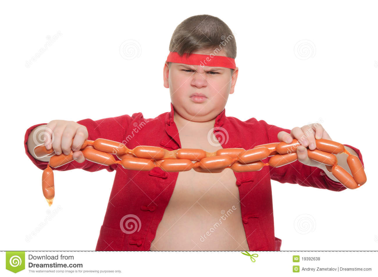 Fat Bad Boy With Sausage Royalty Free Stock Photos Image