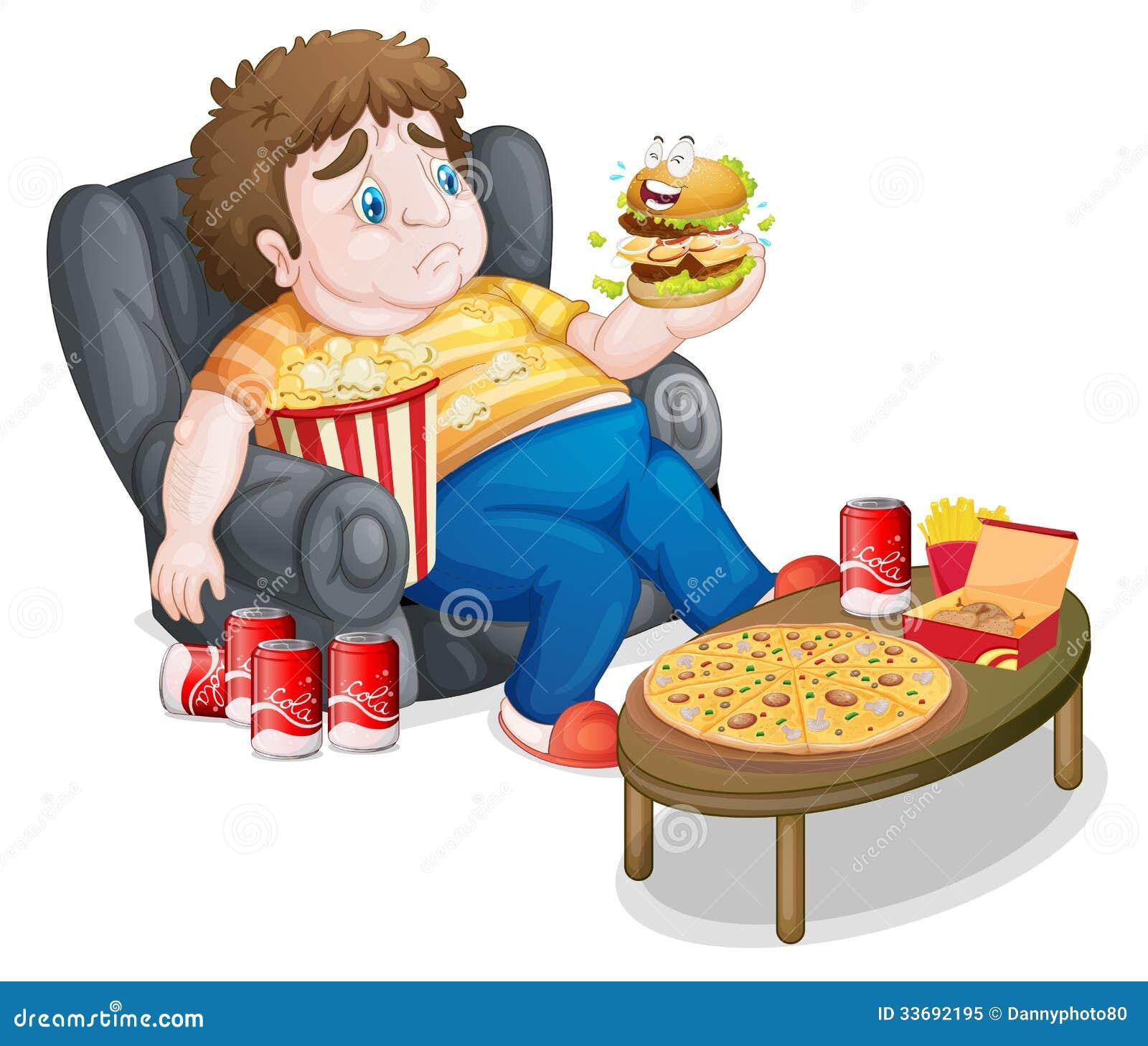 Guy Eating Food Stock Photo