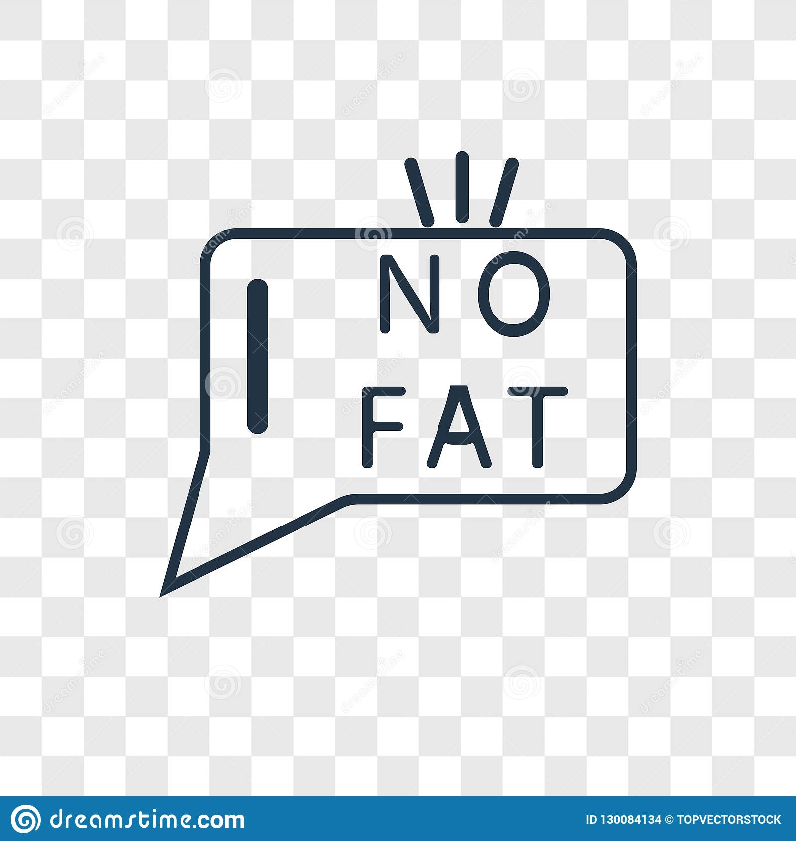 Fat concept vector linear icon isolated on transparent background, Fat concept transparency logo in outline style