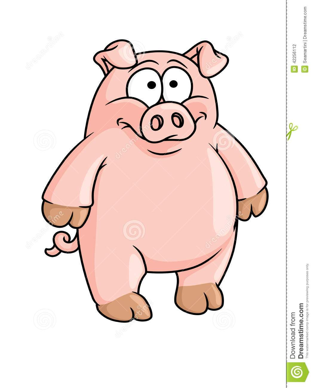 Animated pigs standing - photo#1