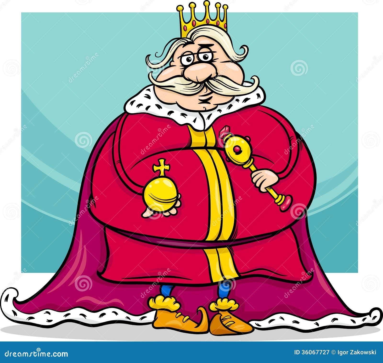 Fat King Cartoon Fantasy Character Royalty Free Stock Photography ... Royal Blue Throne