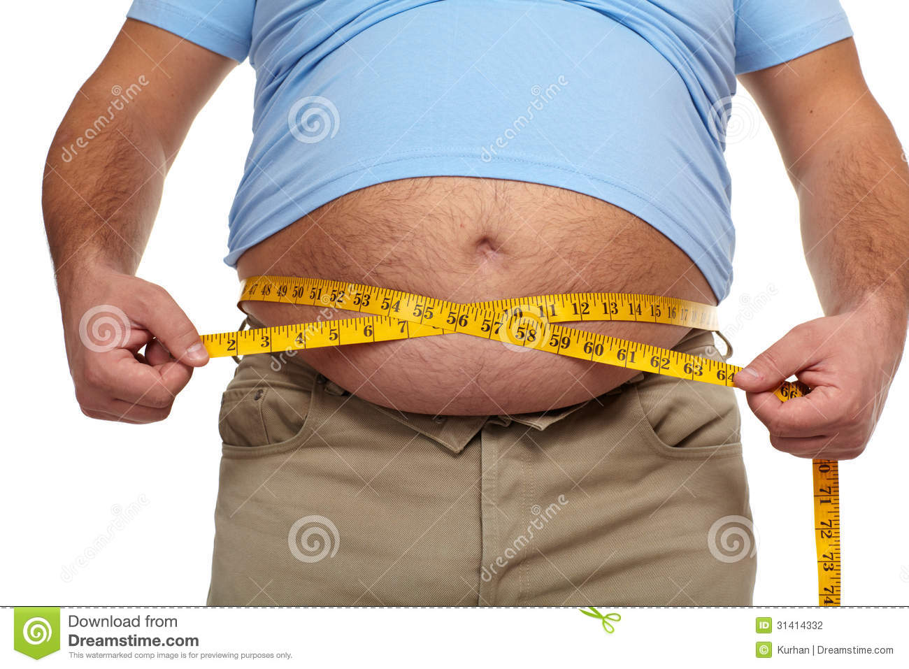 Fat Man With A Big Belly. Stock Photography - Image: 31414332