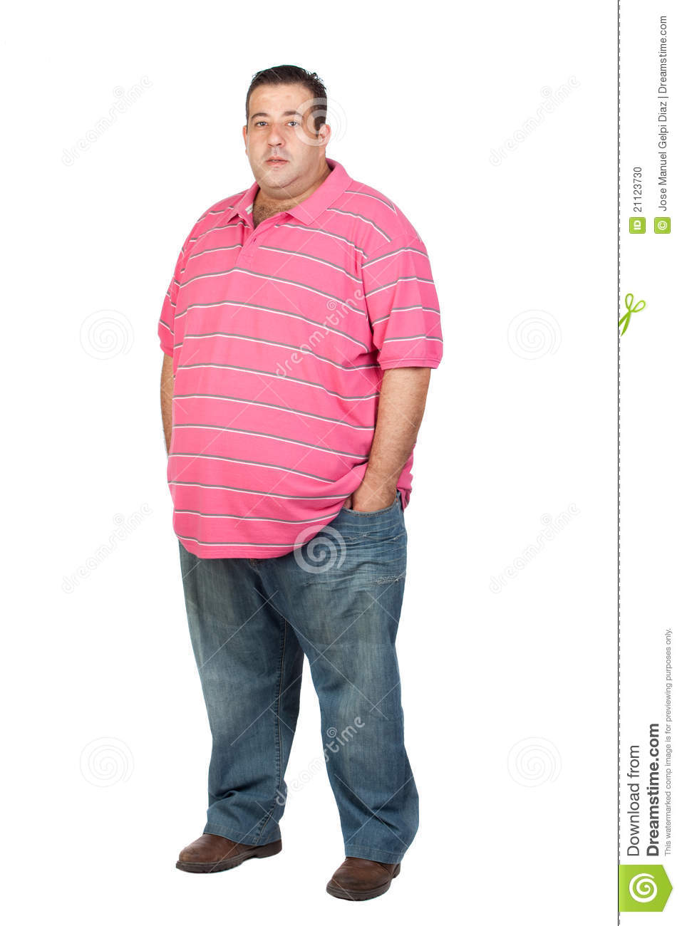 More similar stock images of ` Fat man with pink shirt `