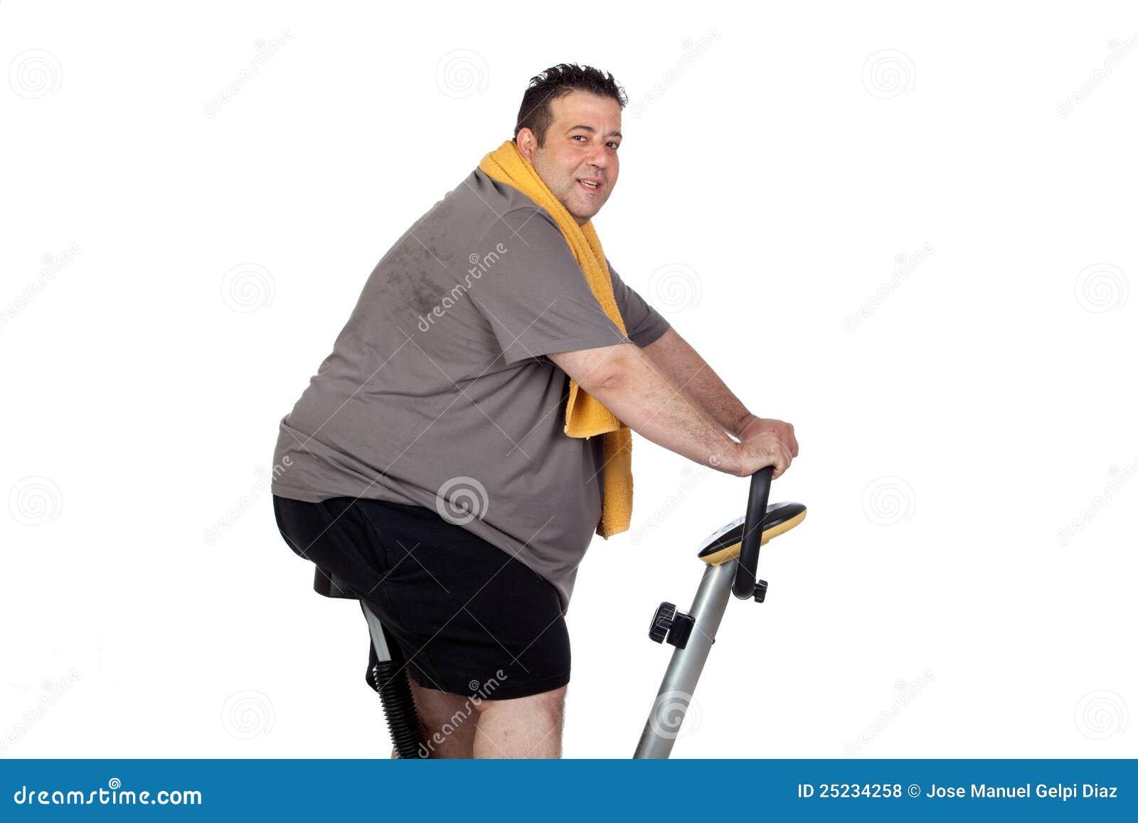 Fat Man Playing Sport Royalty Free Stock Photos - Image ...